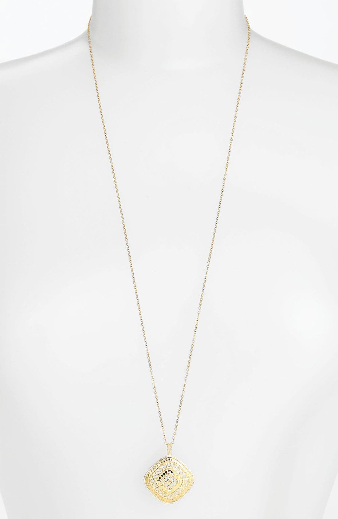 Alternate Image 1 Selected - Anna Back 'Gili' Wire Rimmed Pendant Necklace (Nordstrom Exclusive)