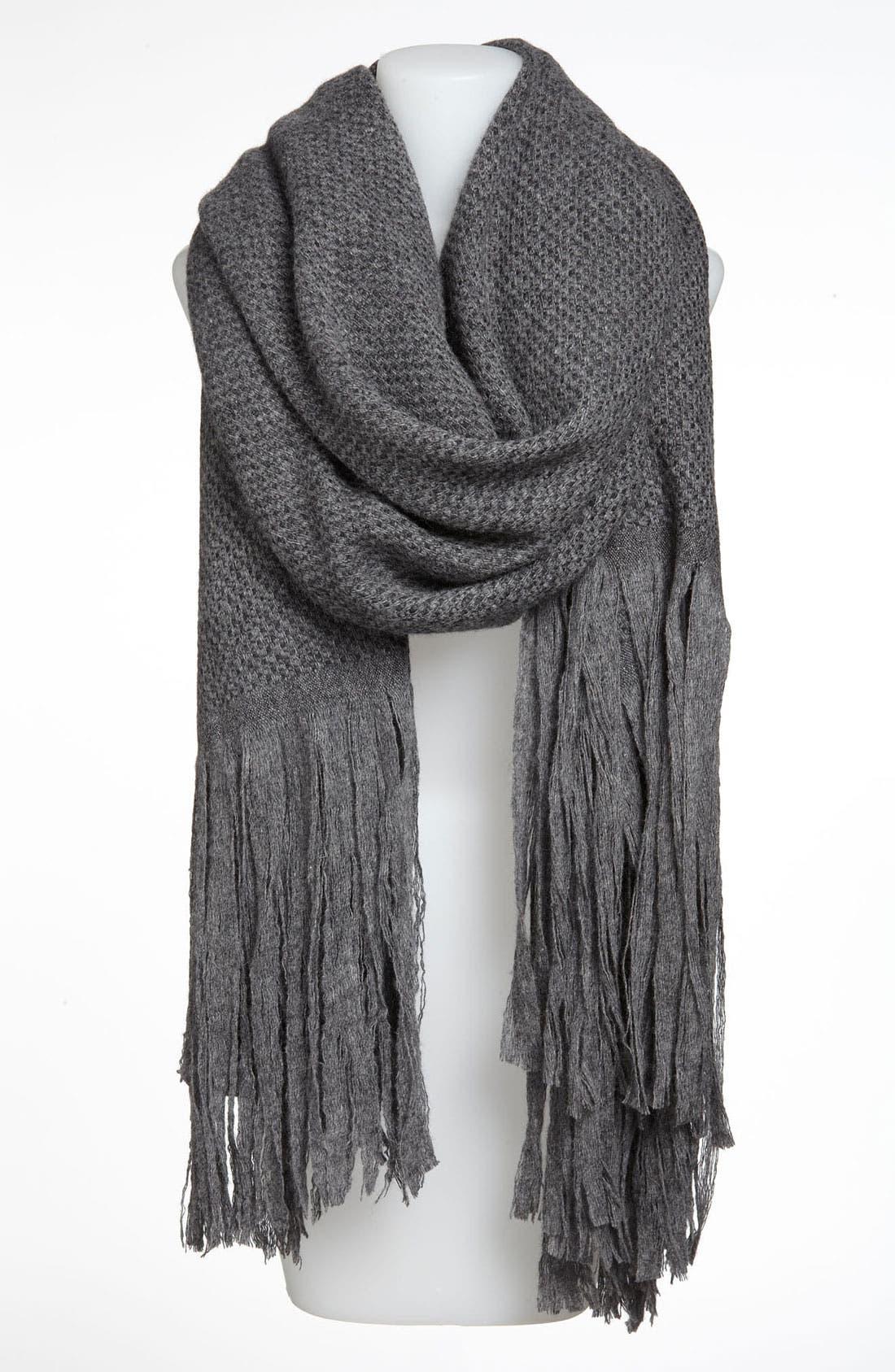 Alternate Image 1 Selected - Nordstrom Long Fringe Wool Wrap