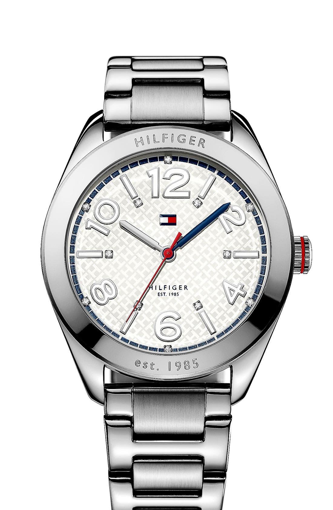 Main Image - Tommy Hilfiger Round Bracelet Watch, 40mm