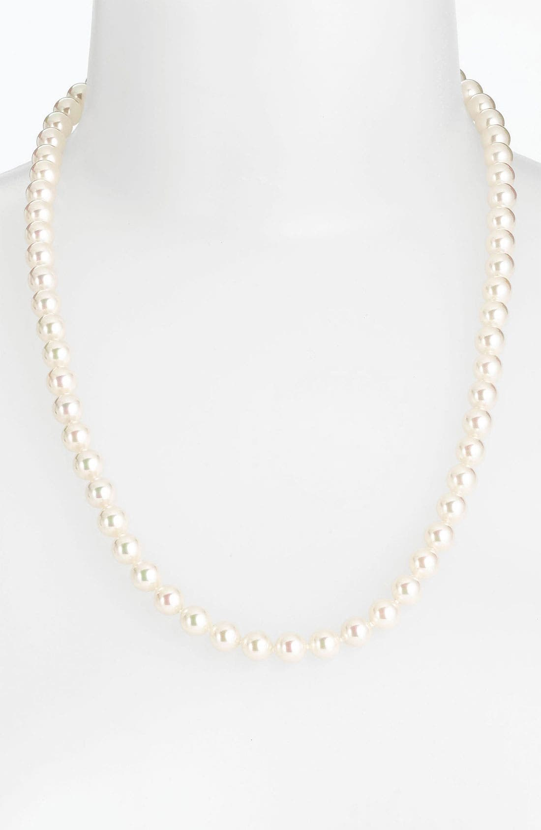Alternate Image 2  - Majorica Convertible 8mm Pearl Necklace