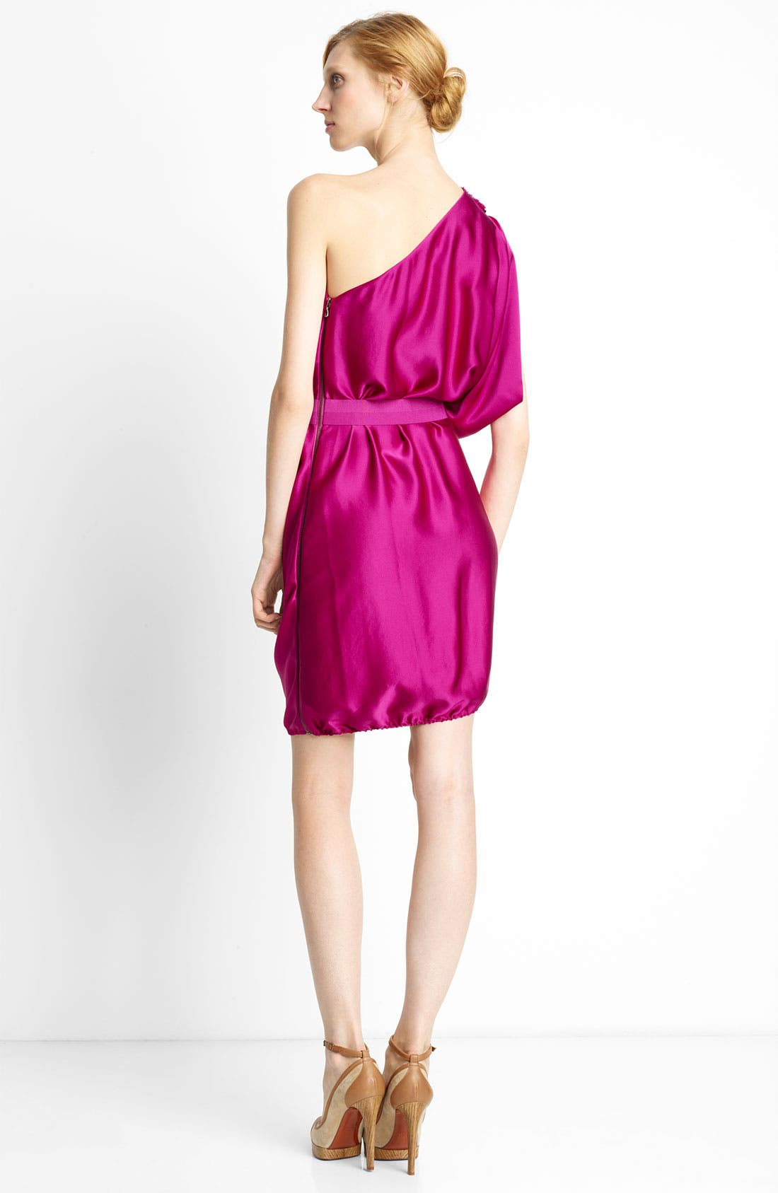 Alternate Image 2  - Lanvin One Shoulder Satin Dress