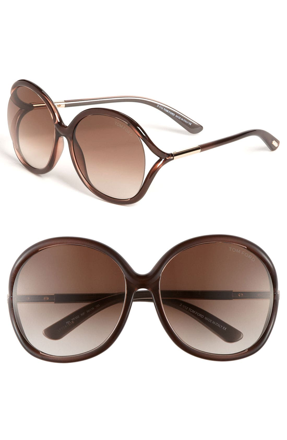 Alternate Image 1 Selected - Tom Ford 59mm Oversized Sunglasses