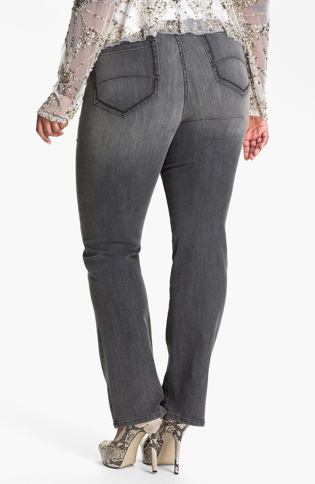Alternate Image 2  - NYDJ 'Marilyn' Straight Leg Stretch Jeans (Plus)