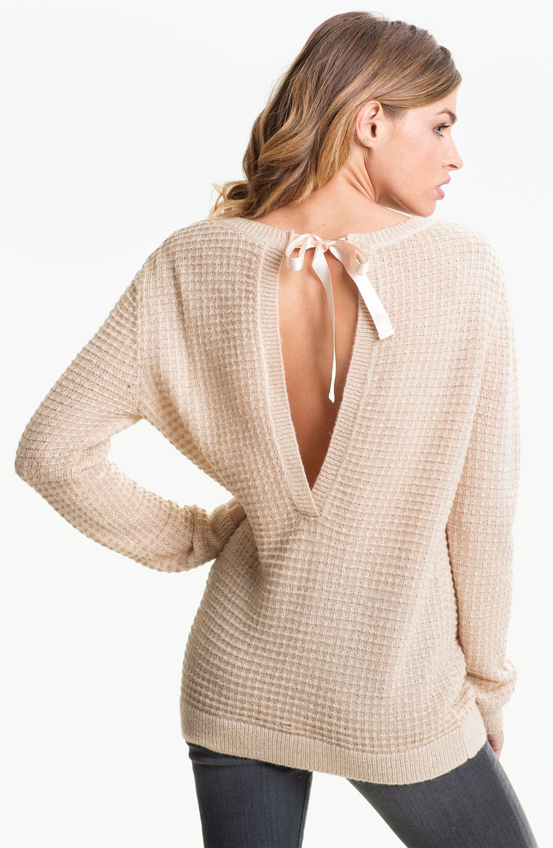 Alternate Image 2  - Hinge® Open Back Thermal Knit Sweater