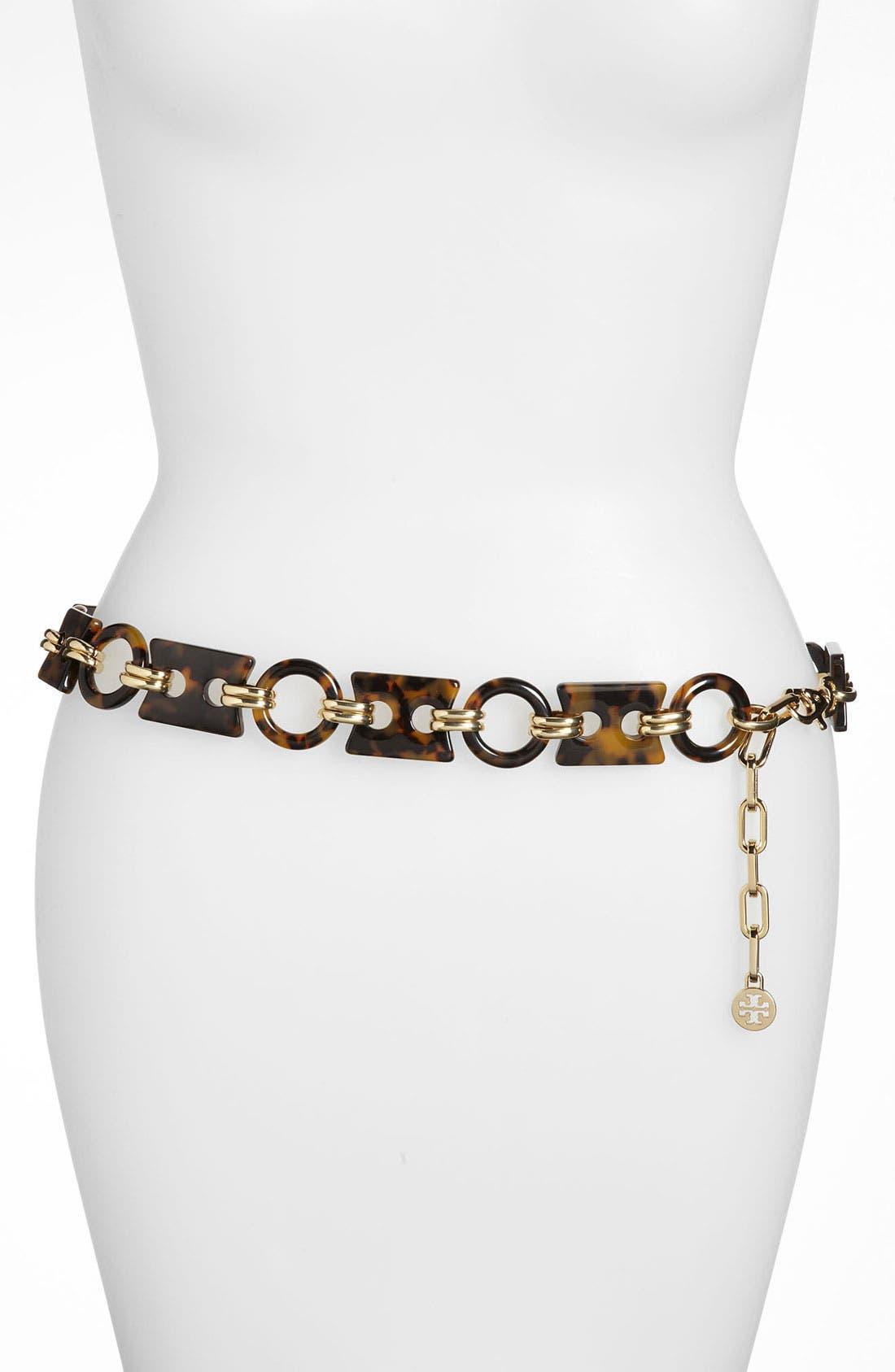 Alternate Image 1 Selected - Tory Burch Geometric Chain Belt