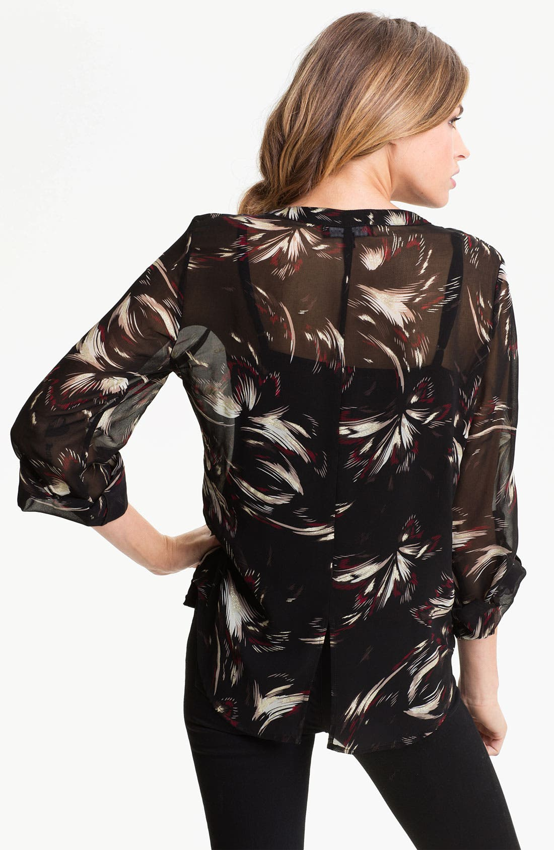 Alternate Image 2  - Sanctuary Print Chiffon Shirt