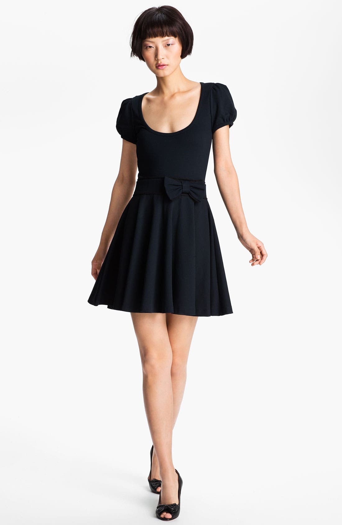 Main Image - RED Valentino Bow Waist Jersey Dress
