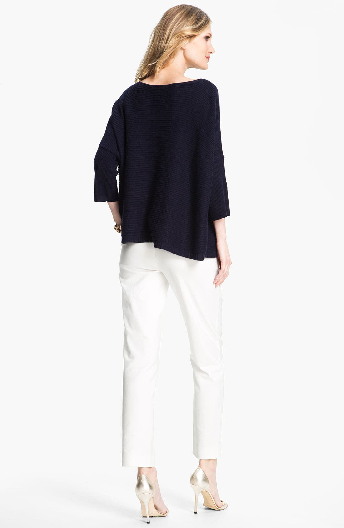 Alternate Image 4  - St. John Yellow Label Ottoman Cashmere Sweater