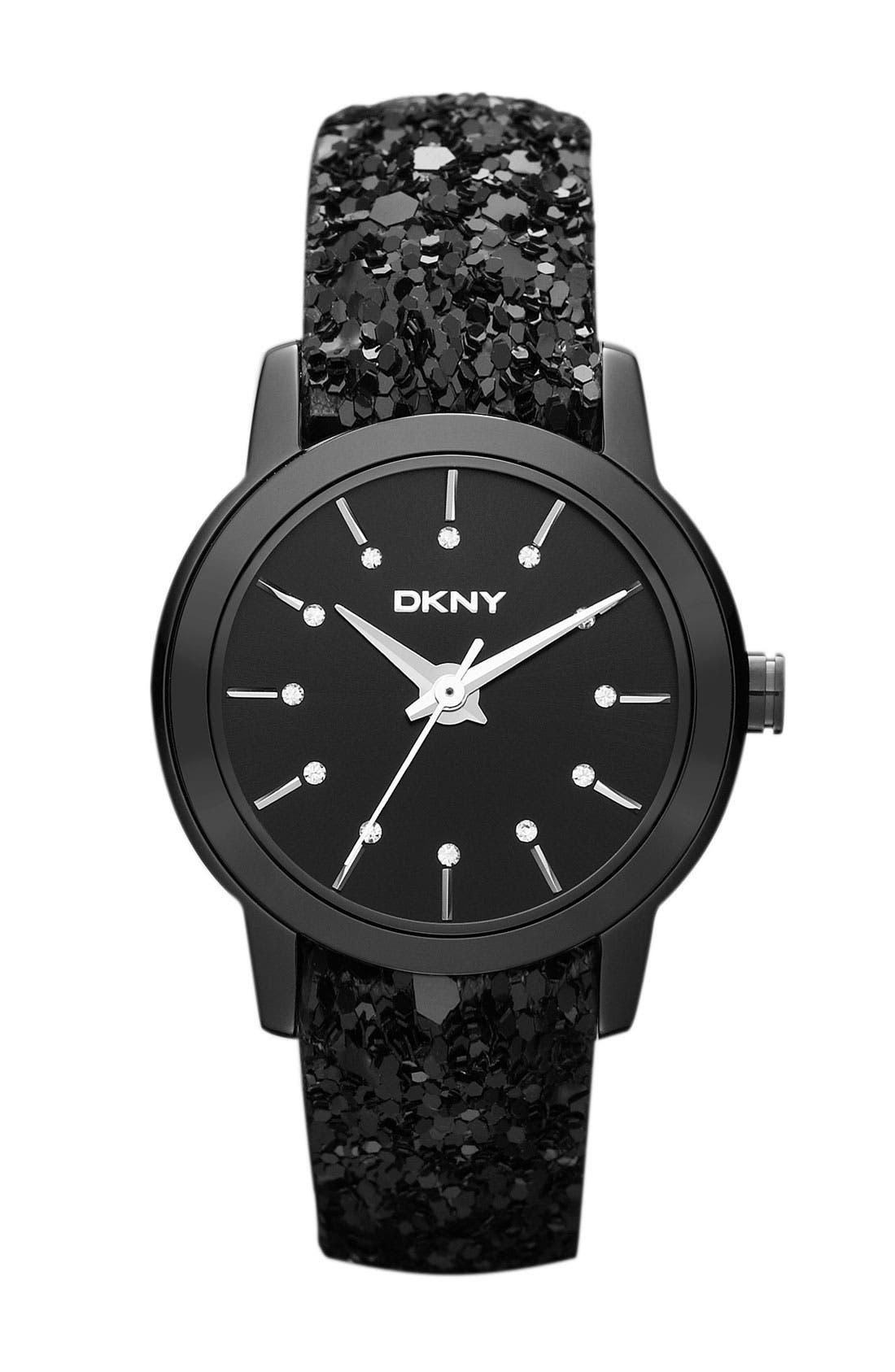 Alternate Image 1 Selected - DKNY Sparkle Strap Watch