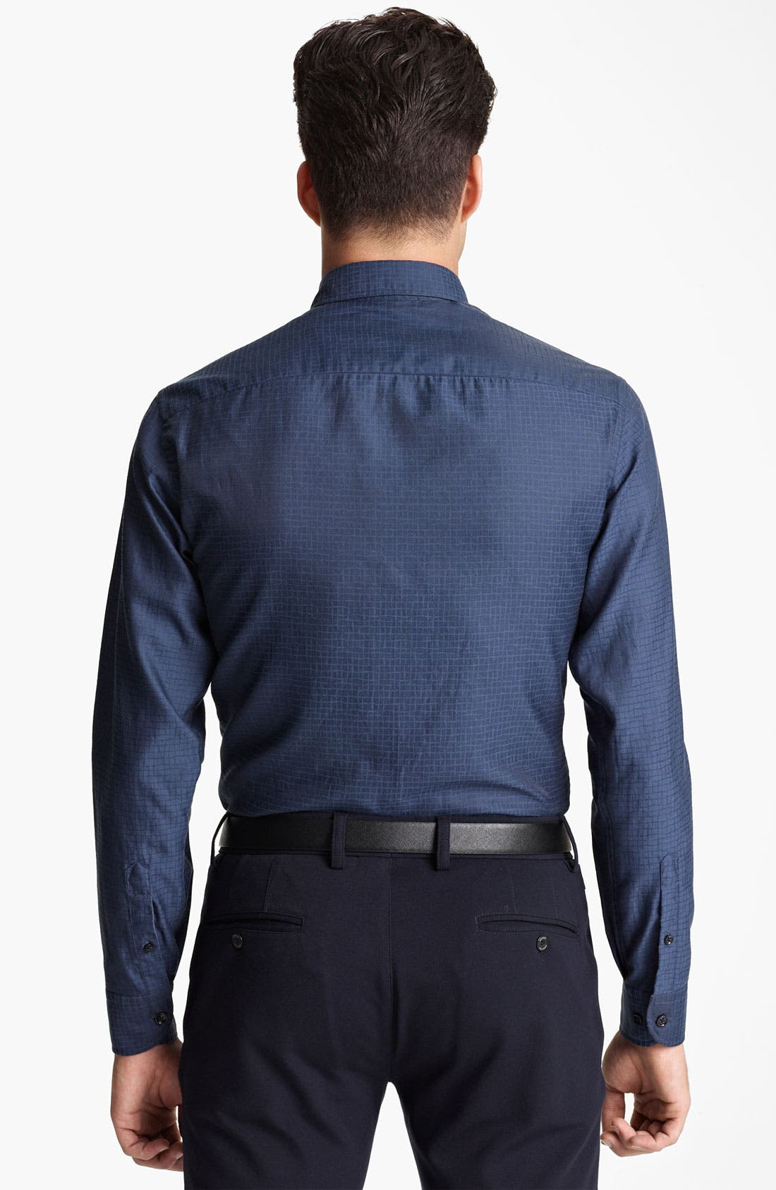 Alternate Image 2  - Armani Collezioni Cotton Blend Sport Shirt