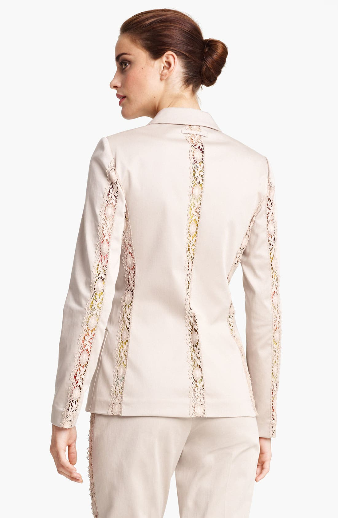 Alternate Image 2  - Jean Paul Gaultier Lace Detail Stretch Gabardine Blazer