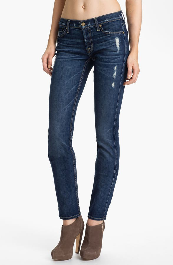 7 For All Mankind® 'Roxanne' Skinny Jeans (Distressed Starry Night ...