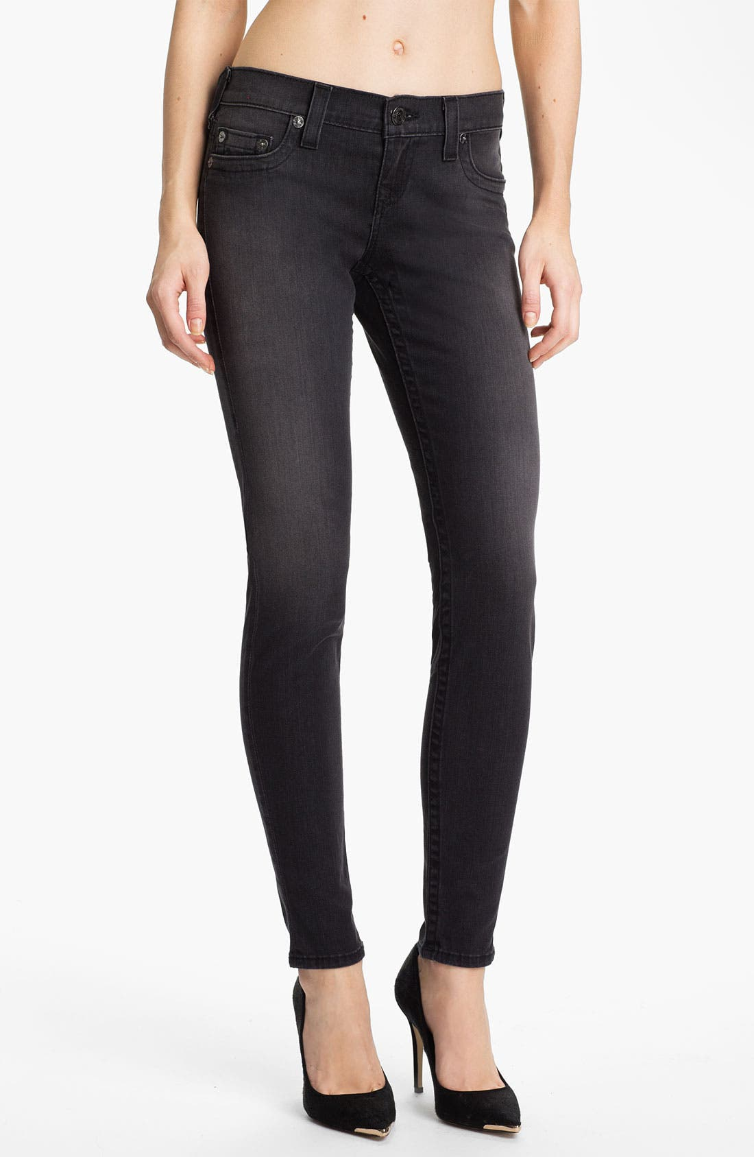 Alternate Image 1 Selected - True Religion Brand Jeans 'Casey' Skinny Stretch Jeans (Hot Lead)