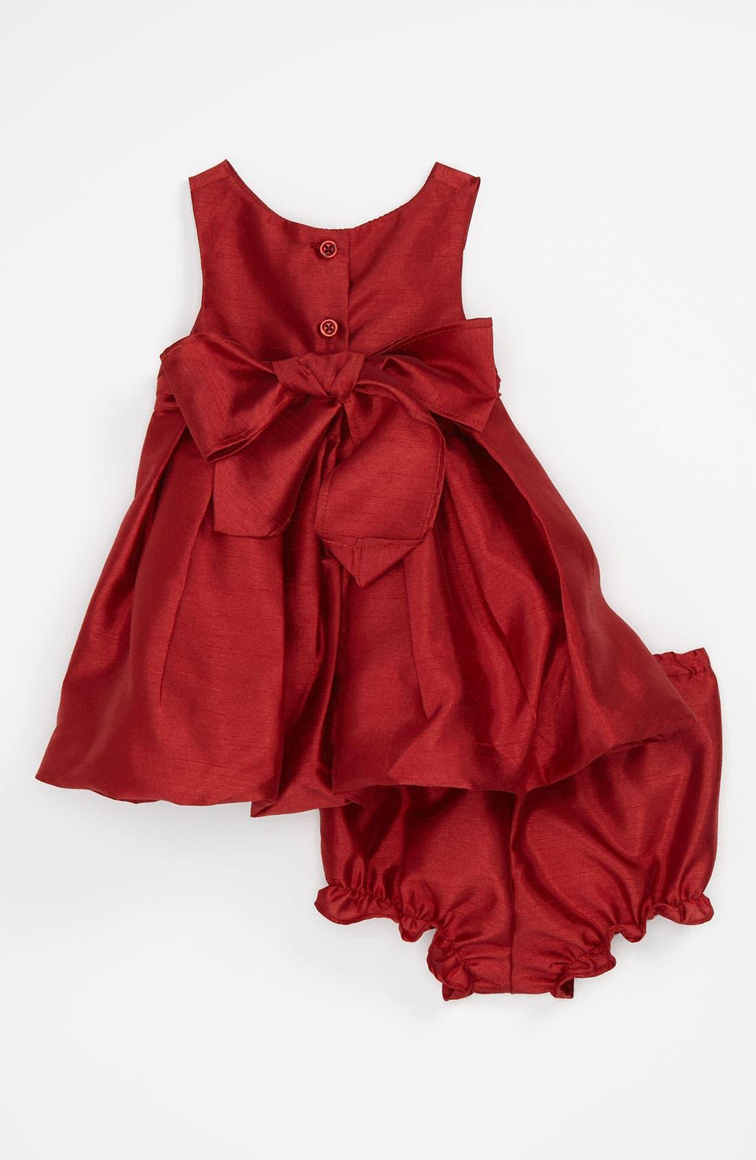 Alternate Image 2  - Pippa & Julie Shantung Bubble Dress (Infant)