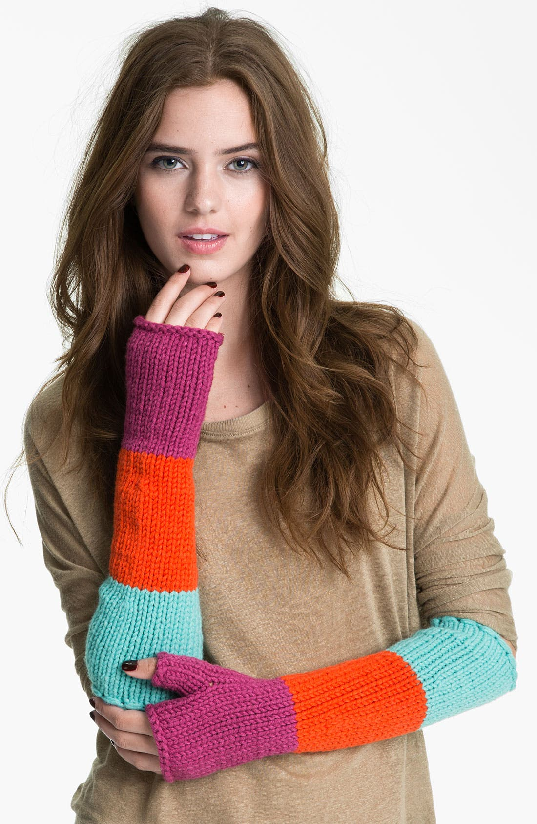 Alternate Image 1 Selected - kate spade new york 'women for women' arm warmers