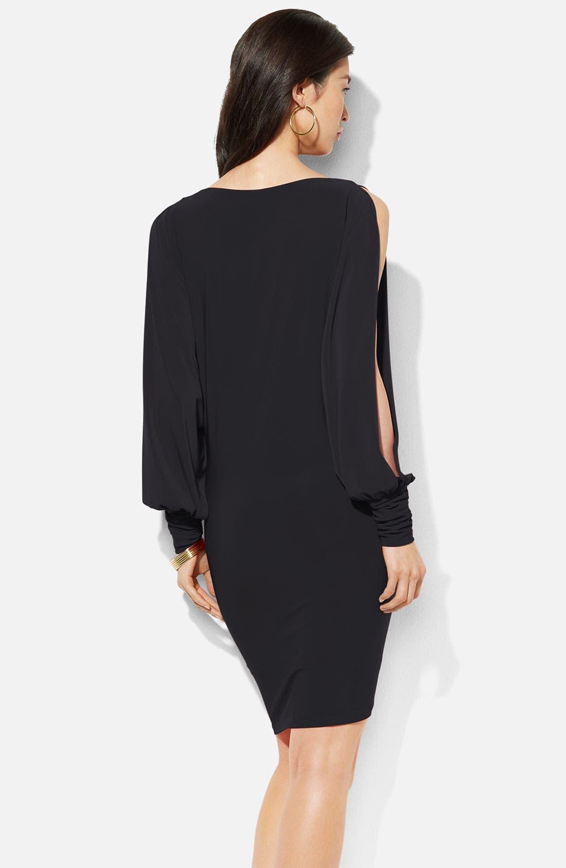 Alternate Image 2  - Lauren Ralph Lauren Split Blouson Sleeve Jersey Dress