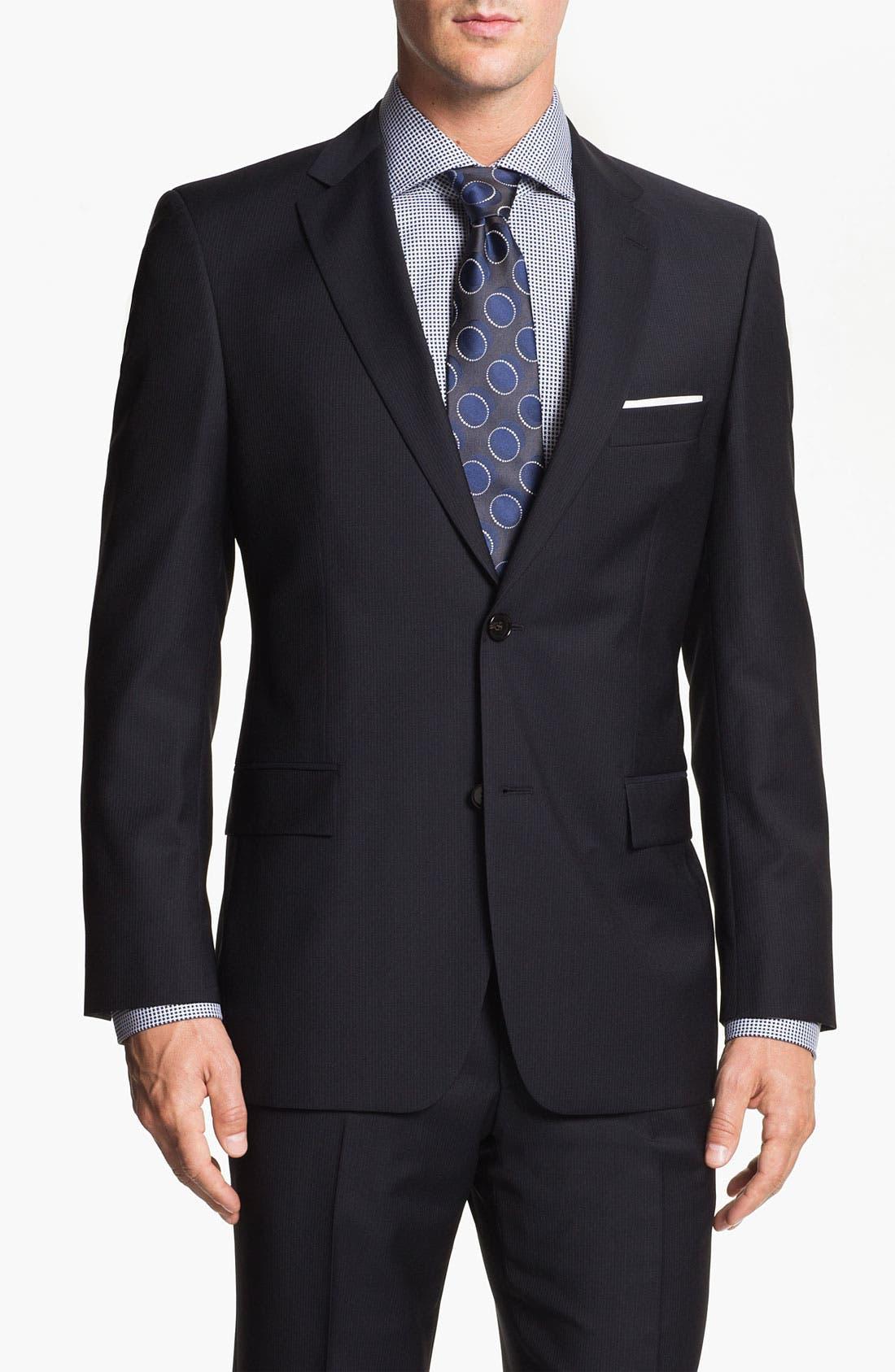 Main Image - BOSS Black 'Pasolini/Movie' Stripe Suit