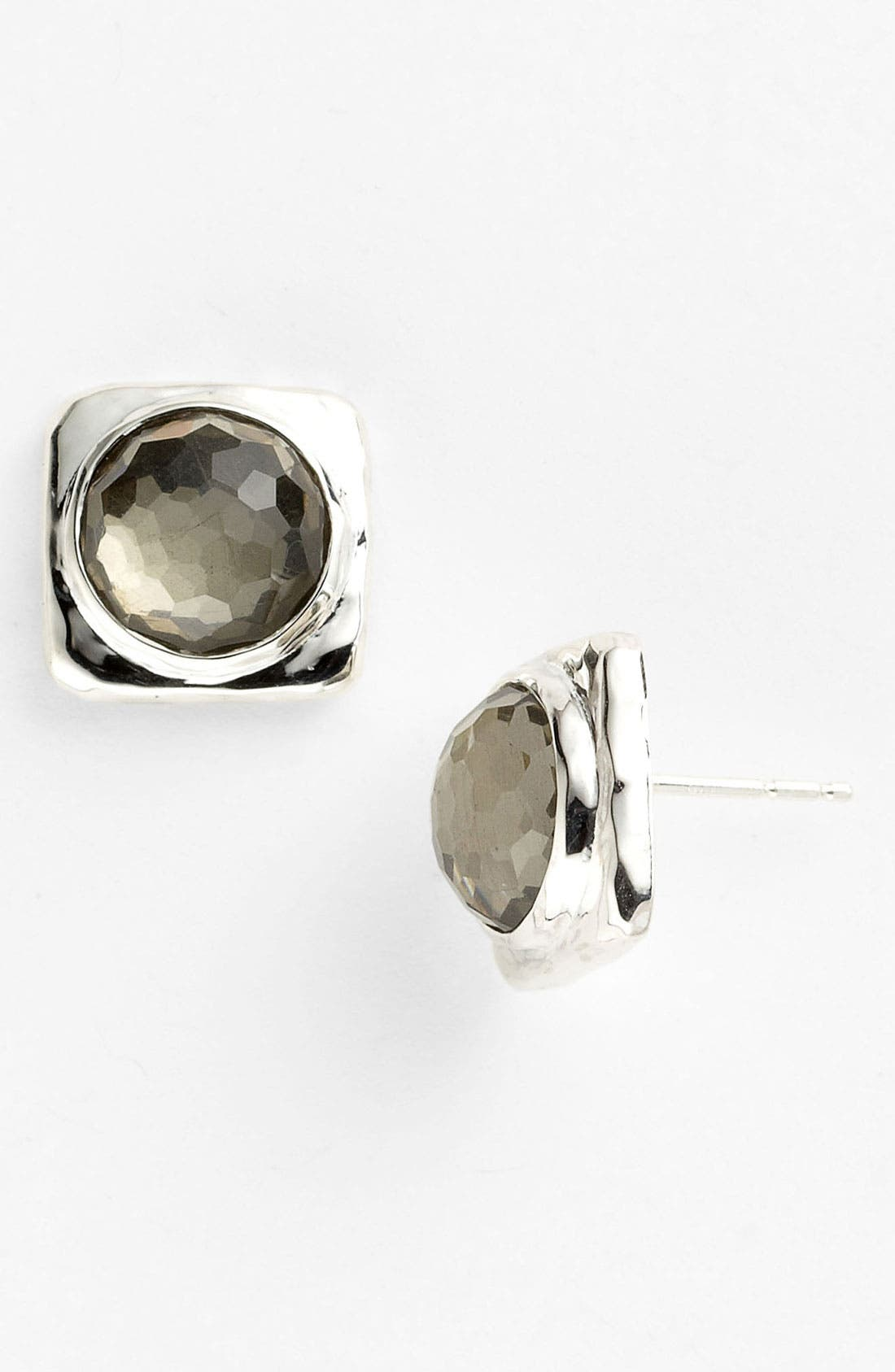 Alternate Image 1 Selected - Ippolita Round Stone Square Stud Earrings