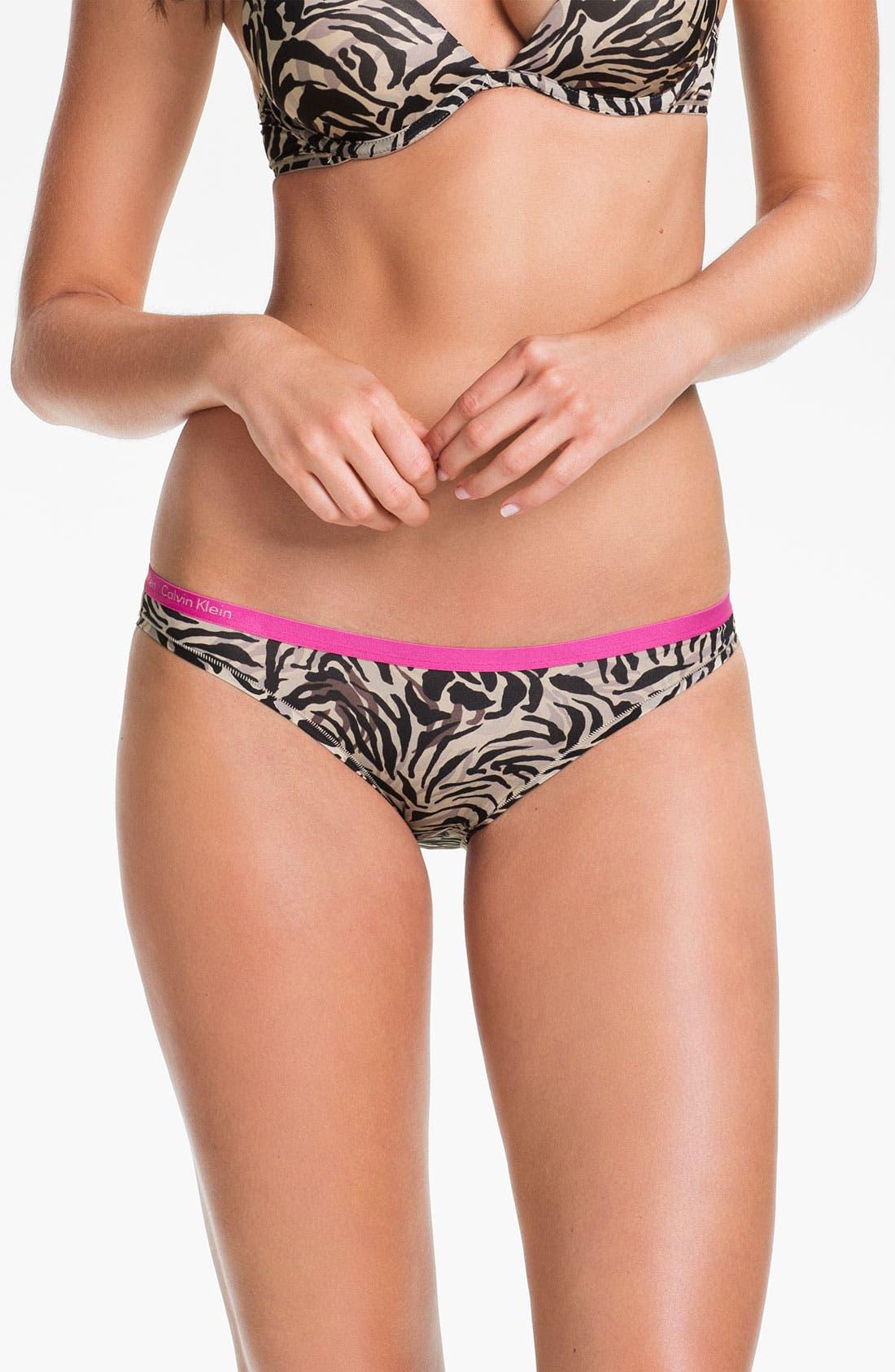 Alternate Image 1 Selected - Calvin Klein Microfiber Bikini