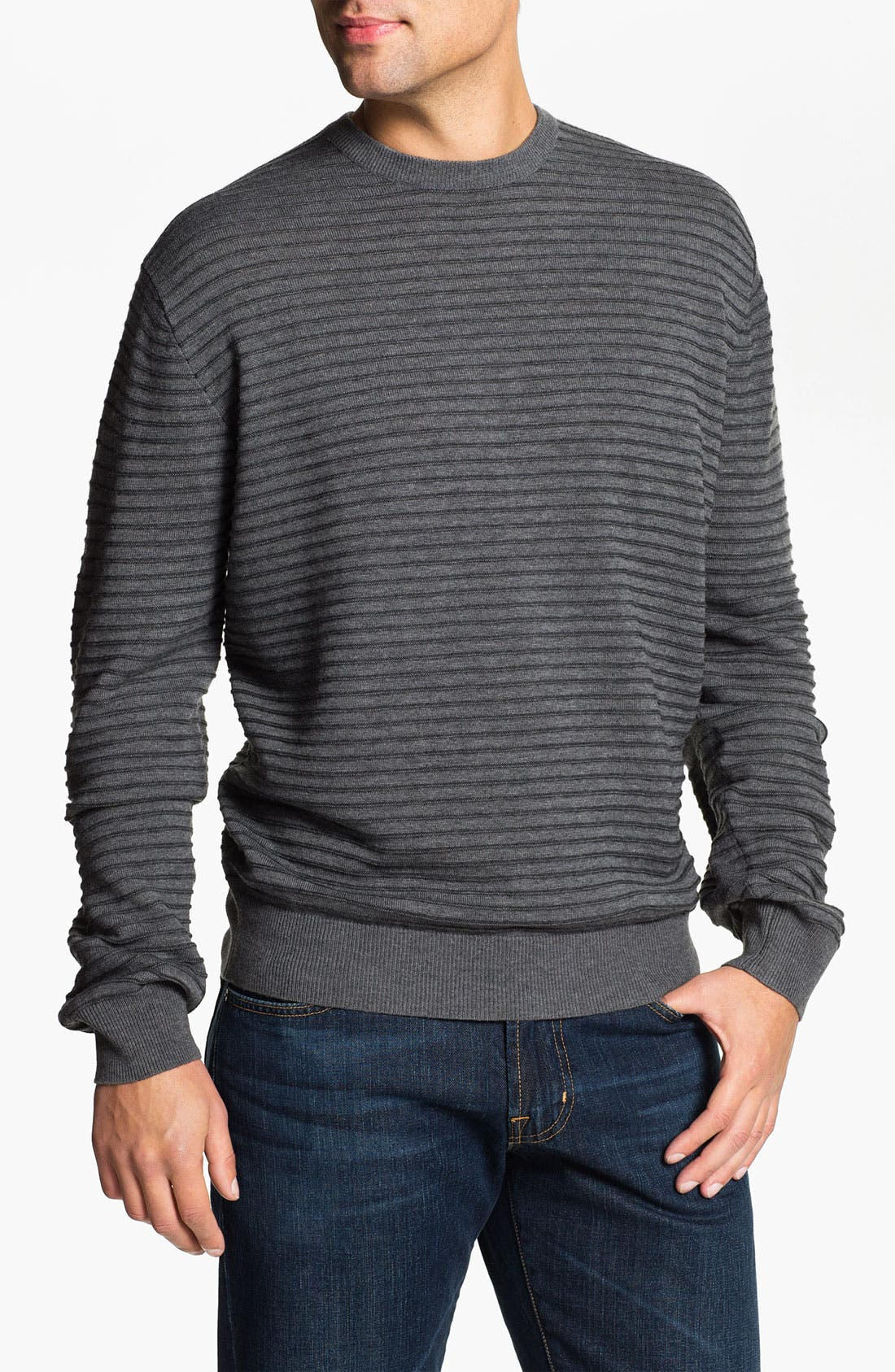 Alternate Image 1 Selected - Toscano Merino Wool Blend Crewneck Sweater