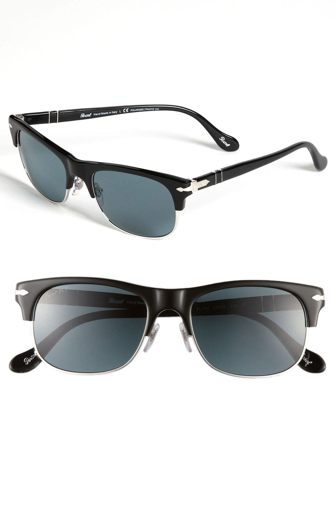 Alternate Image 1 Selected - Persol 'Cell Clubmaster' Polarized Sunglasses