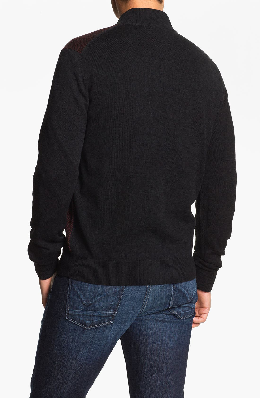 Alternate Image 2  - Toscano Quarter Zip Wool Blend Sweater