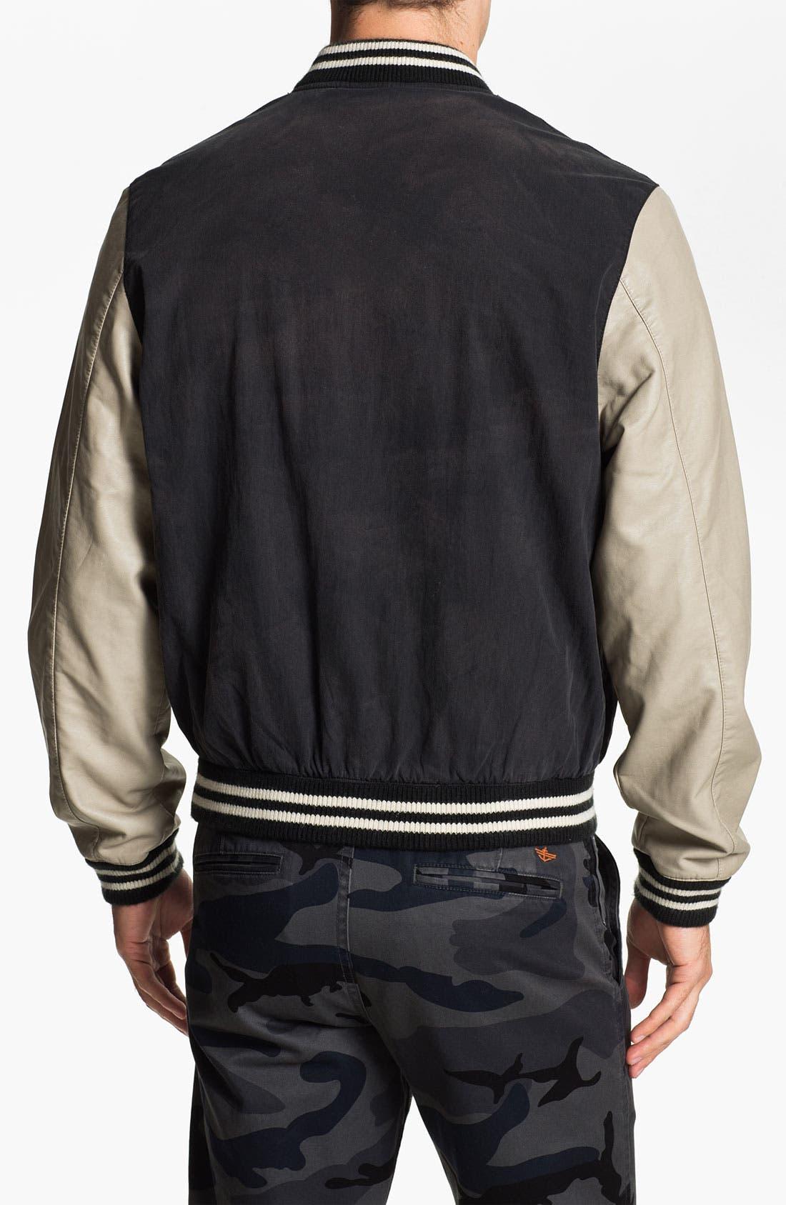 Alternate Image 2  - Just A Cheap Shirt 'Varsity' Jacket