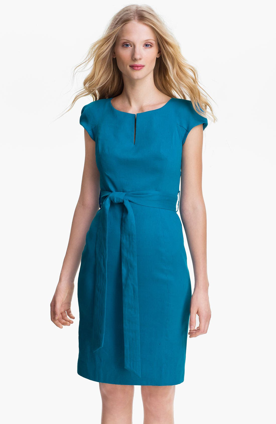 Main Image - Milly 'Slim Haley' Linen Blend Sheath Dress