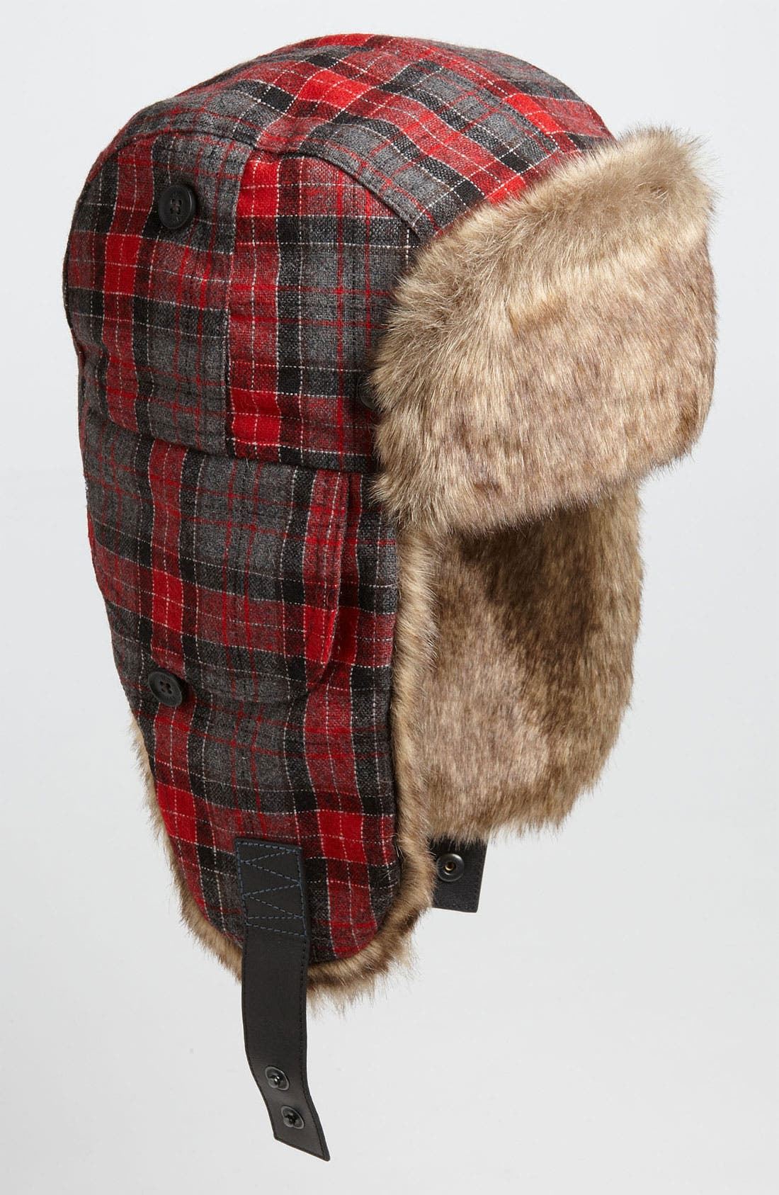 Main Image - Ted Baker London Plaid Faux Fur Trapper Hat