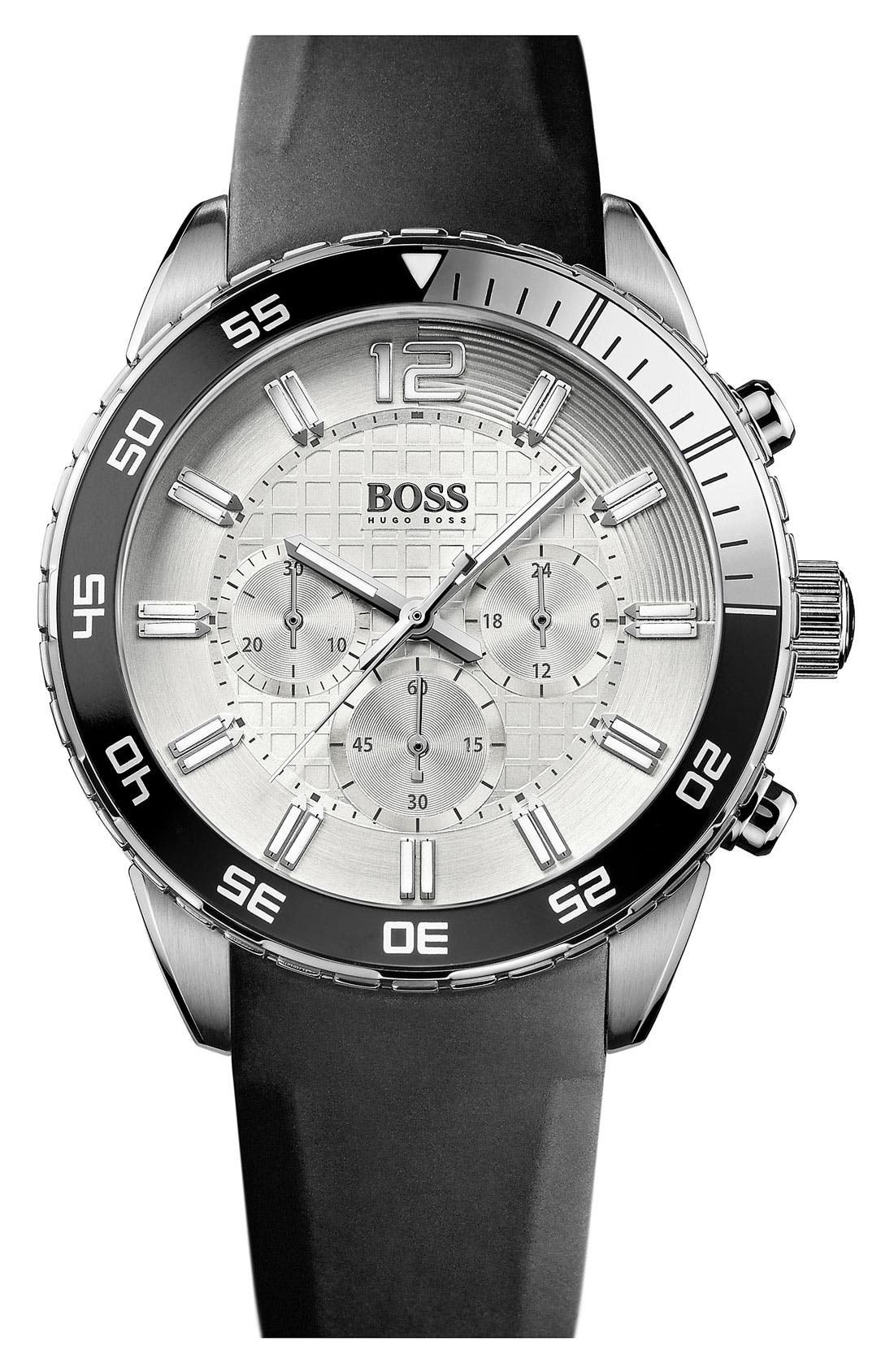 Alternate Image 1 Selected - BOSS HUGO BOSS 'Iconic' Chronograph Sport Watch, 44mm