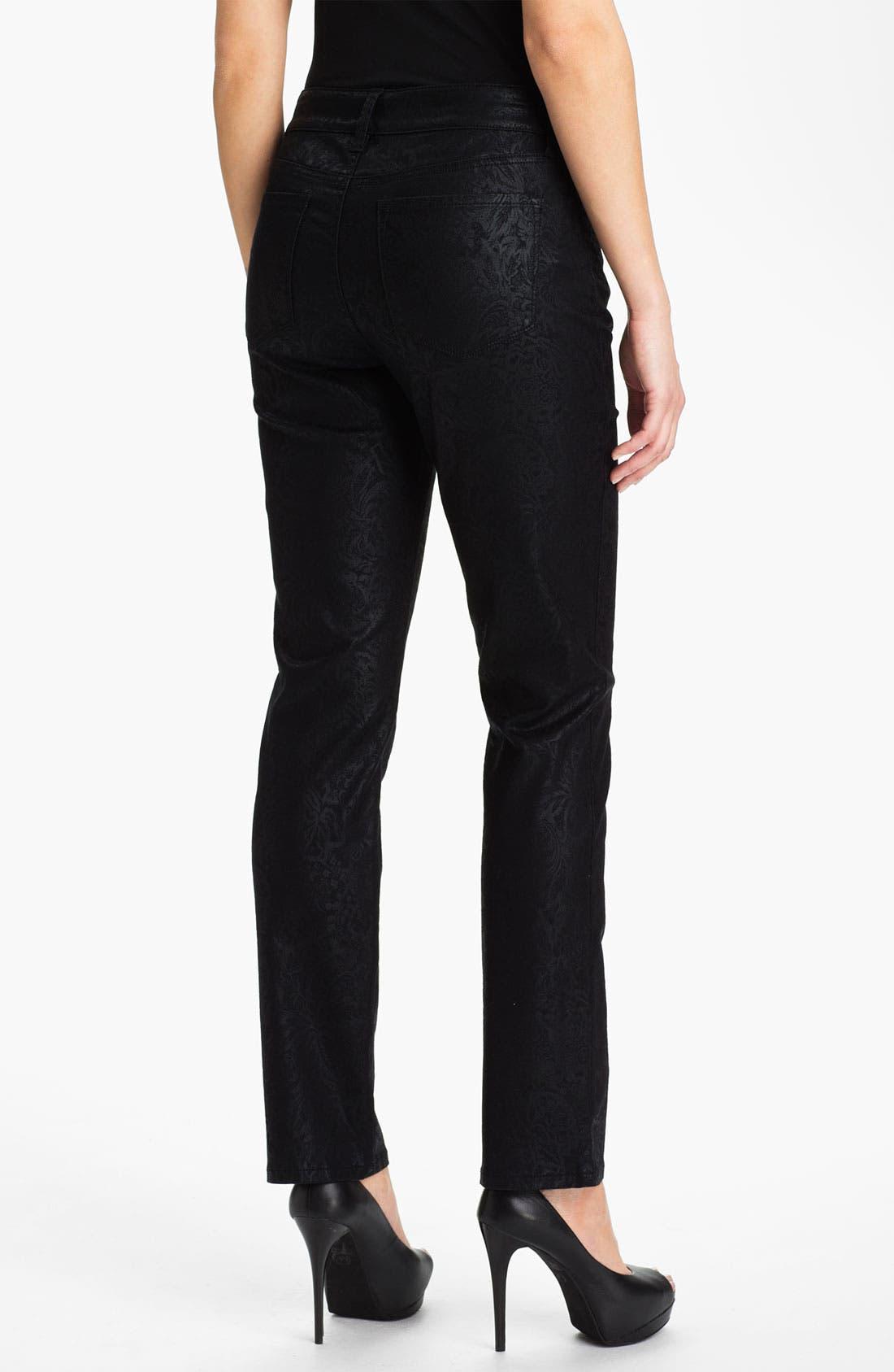 Alternate Image 2  - NYDJ 'Sheri - Metallic Gilded Lily' Twill Skinny Jeans