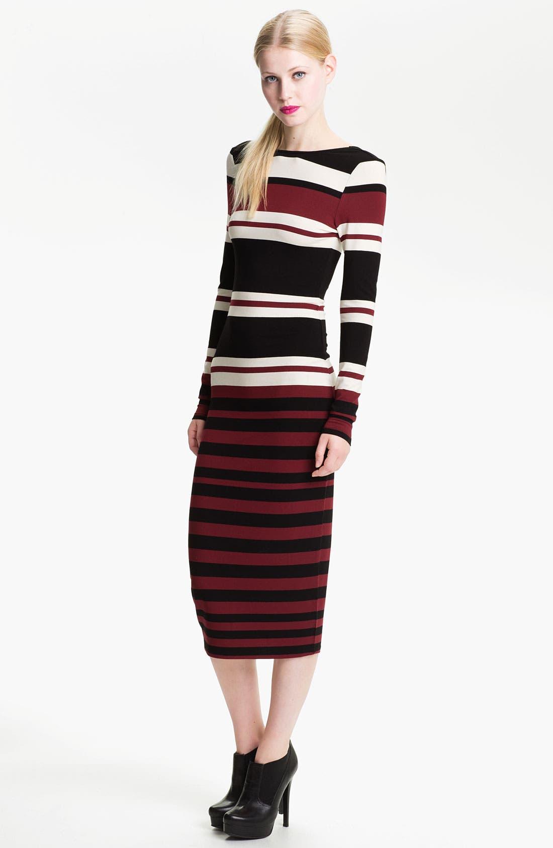 Main Image - Felicity & Coco Stripe Jersey Midi Dress (Nordstrom Exclusive)