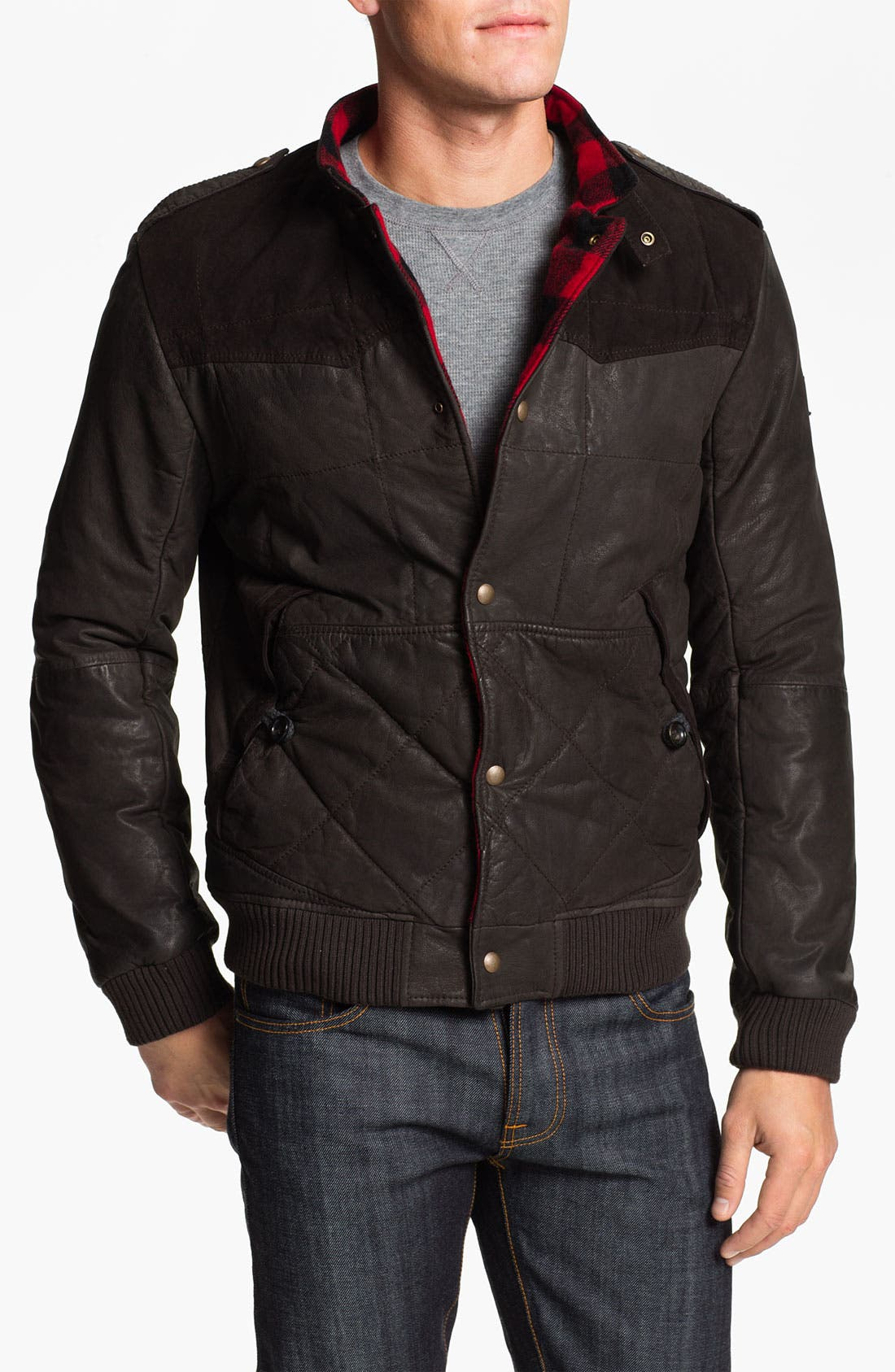 Alternate Image 1 Selected - BOSS Orange 'Jearne' Quilted Leather Jacket