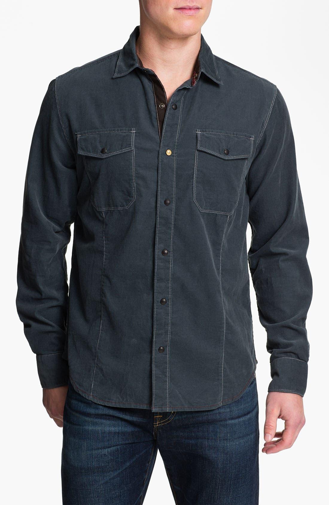 Main Image - Jeremiah 'Peyton Mineral' Corduroy Sport Shirt