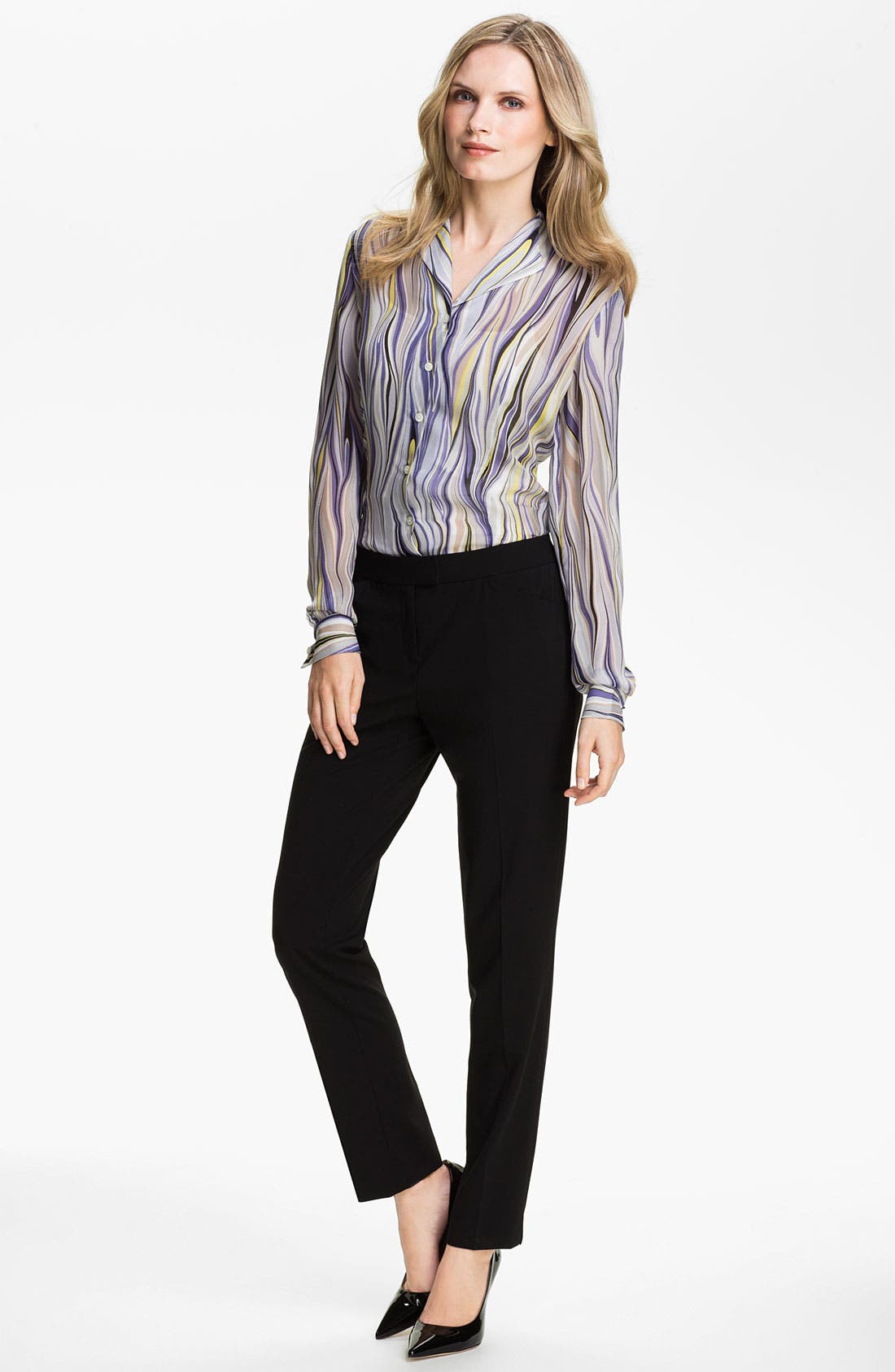 Alternate Image 4  - Lafayette 148 New York 'Audrey - Etro Gamma' Print Blouse