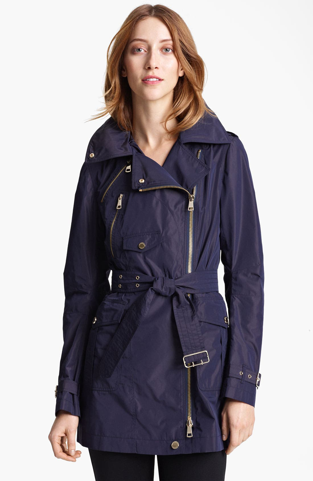 Main Image - Burberry London Asymmetrical Taffeta Trench Coat