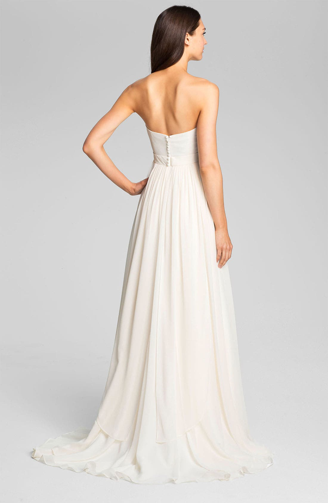 Alternate Image 2  - Jenny Yoo 'Monarch' Sweetheart Neckline Layered Chiffon Gown