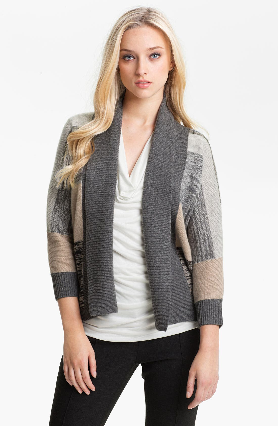 Alternate Image 1 Selected - Nordstrom Collection Intarsia Cashmere Cardigan