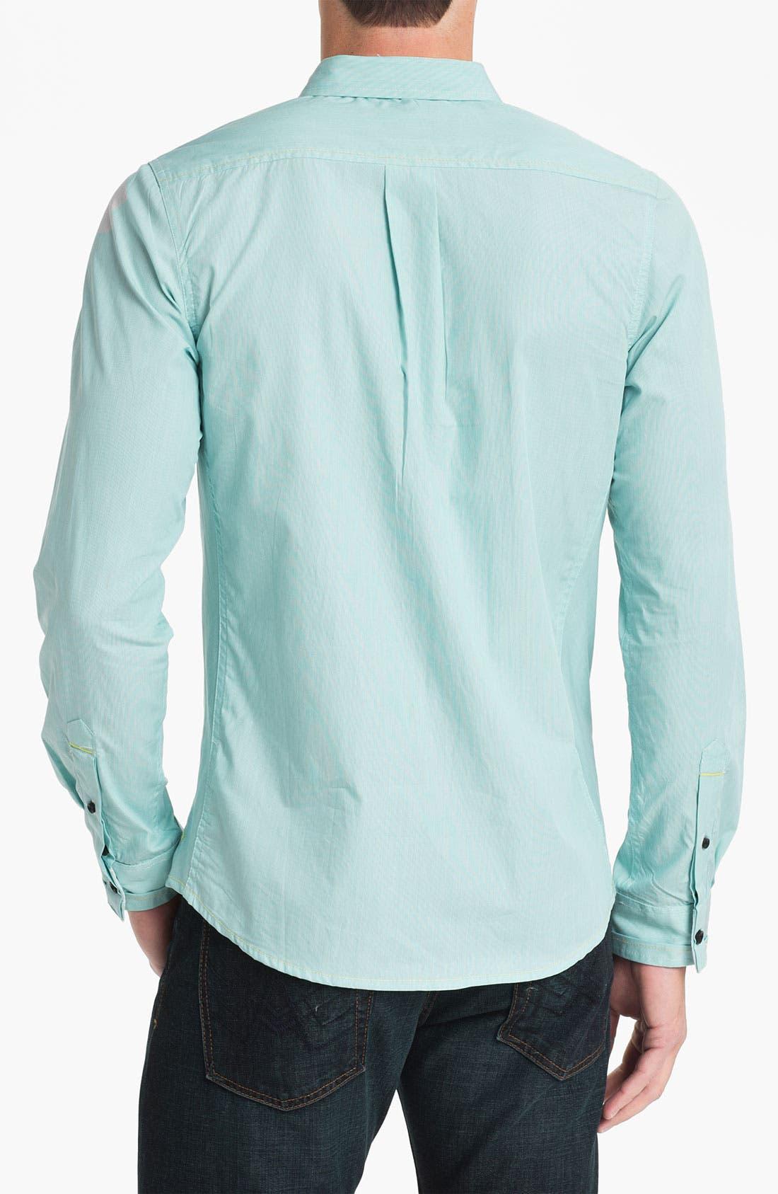 Alternate Image 2  - Descendant of Thieves Fine Stripe Woven Shirt