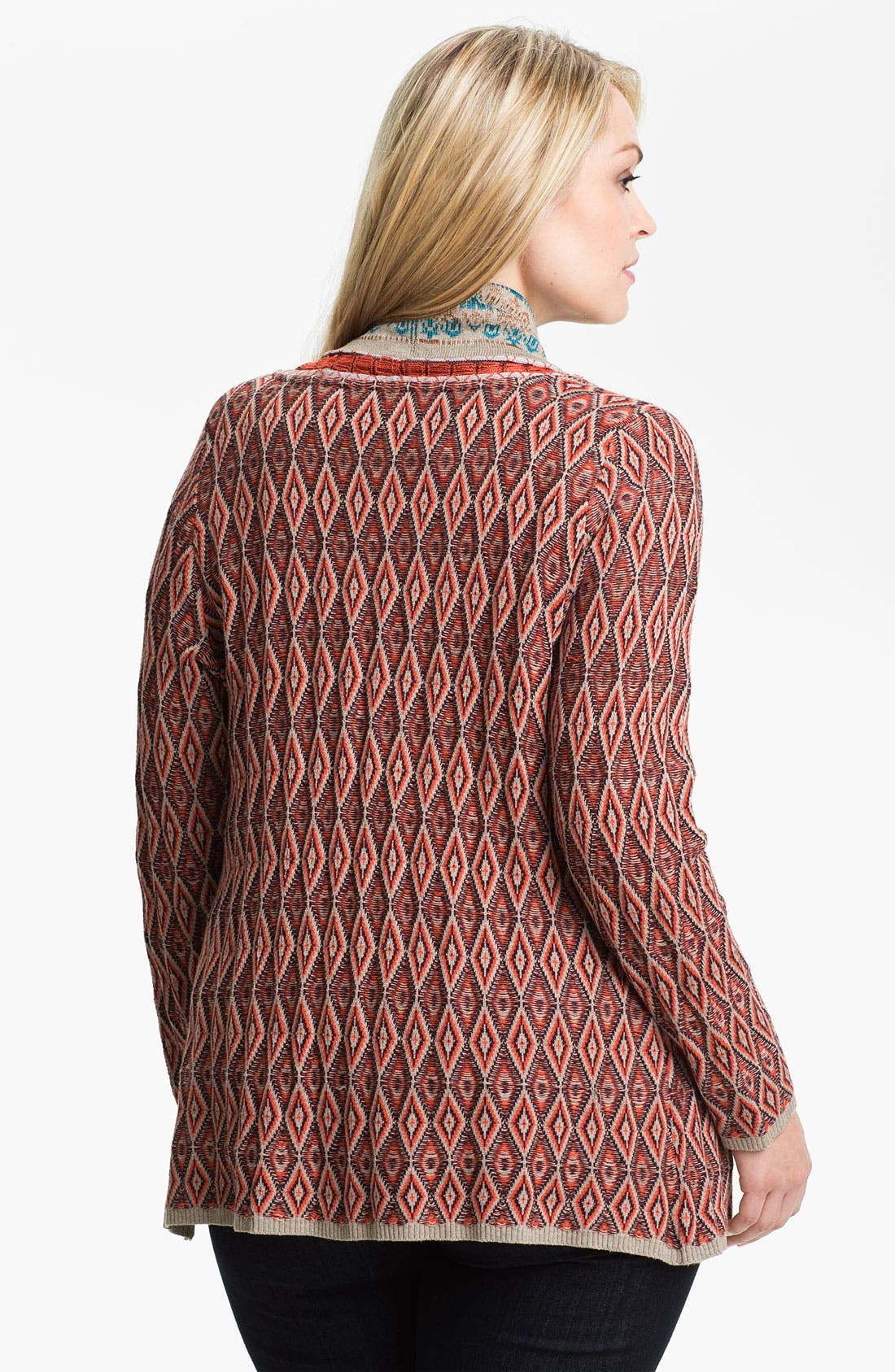 Alternate Image 2  - Nic + Zoe Geo Print Cardigan (Plus)