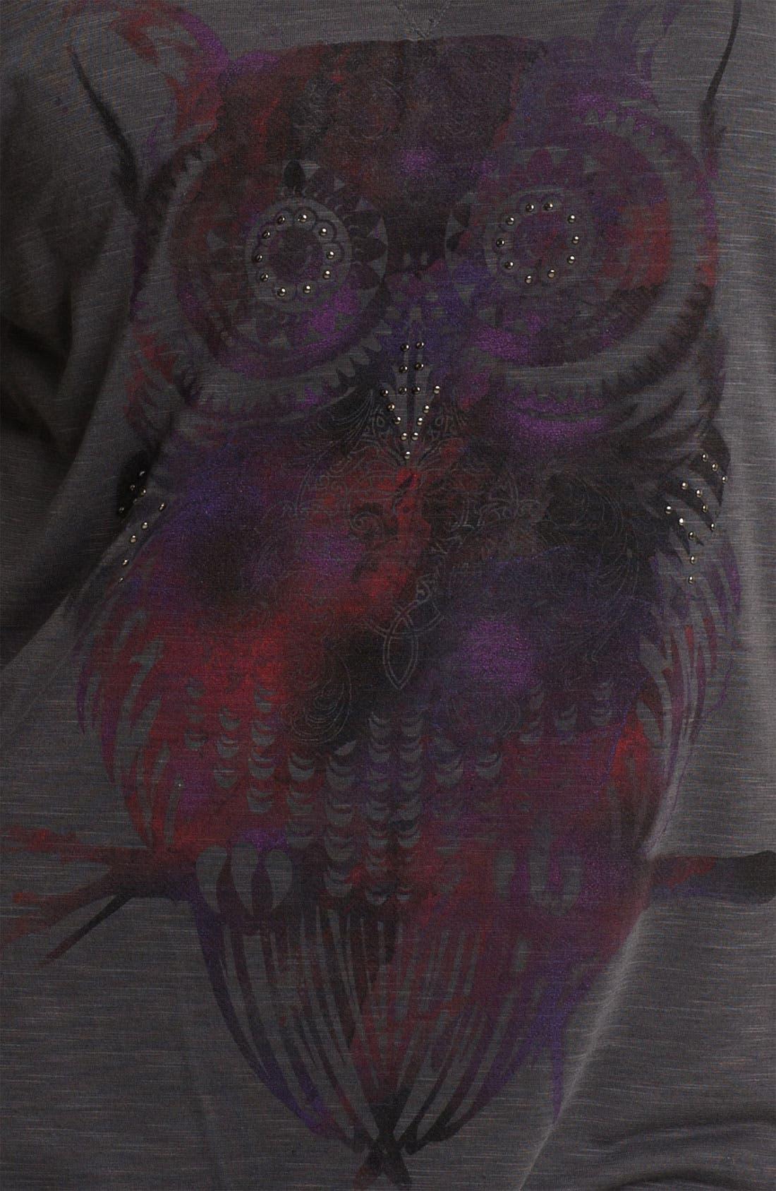 Alternate Image 3  - Madison & Berkeley Studded Owl Tee (Plus)