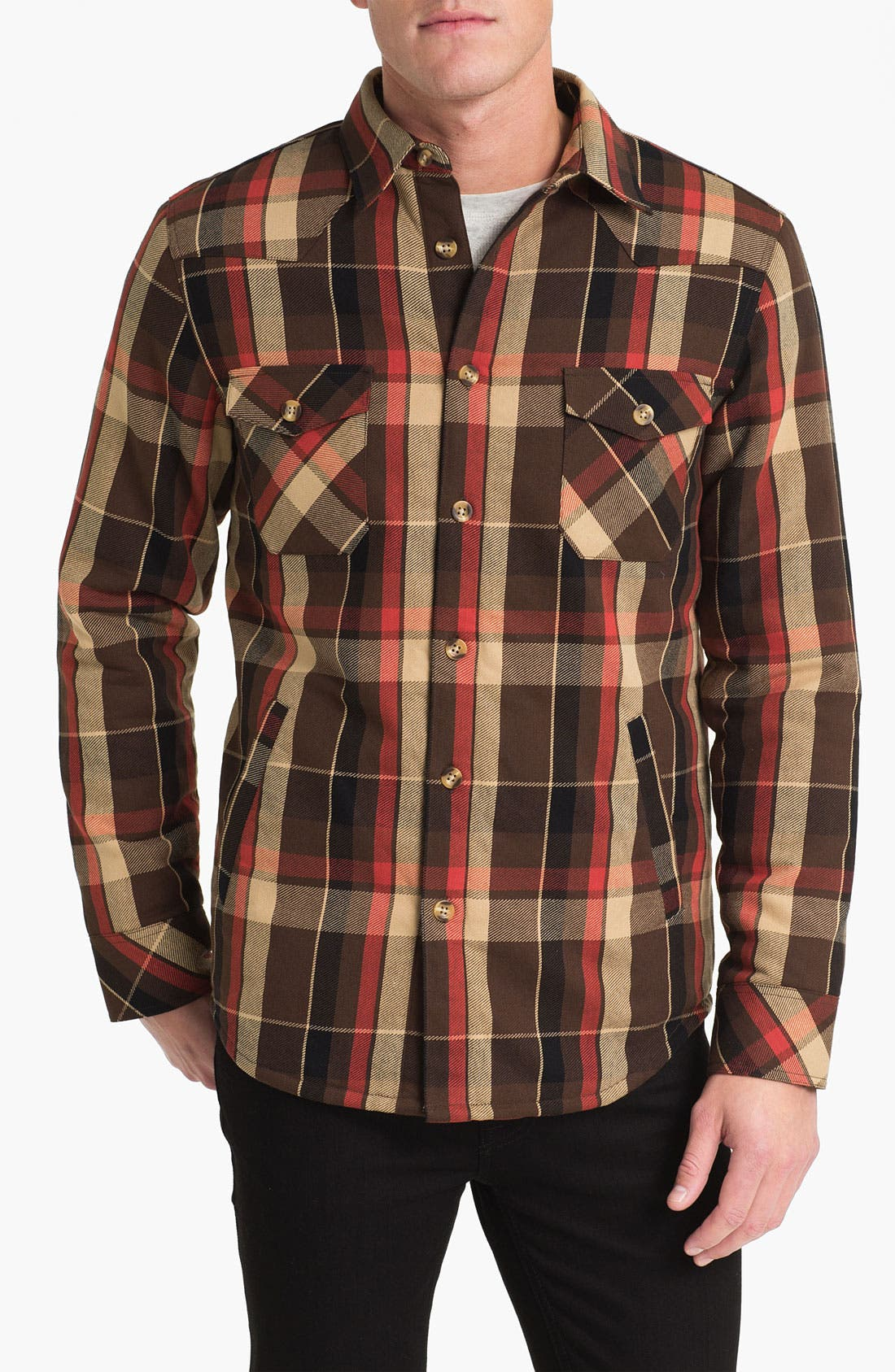 Main Image - Public Opinion Plaid Twill Western Shirt