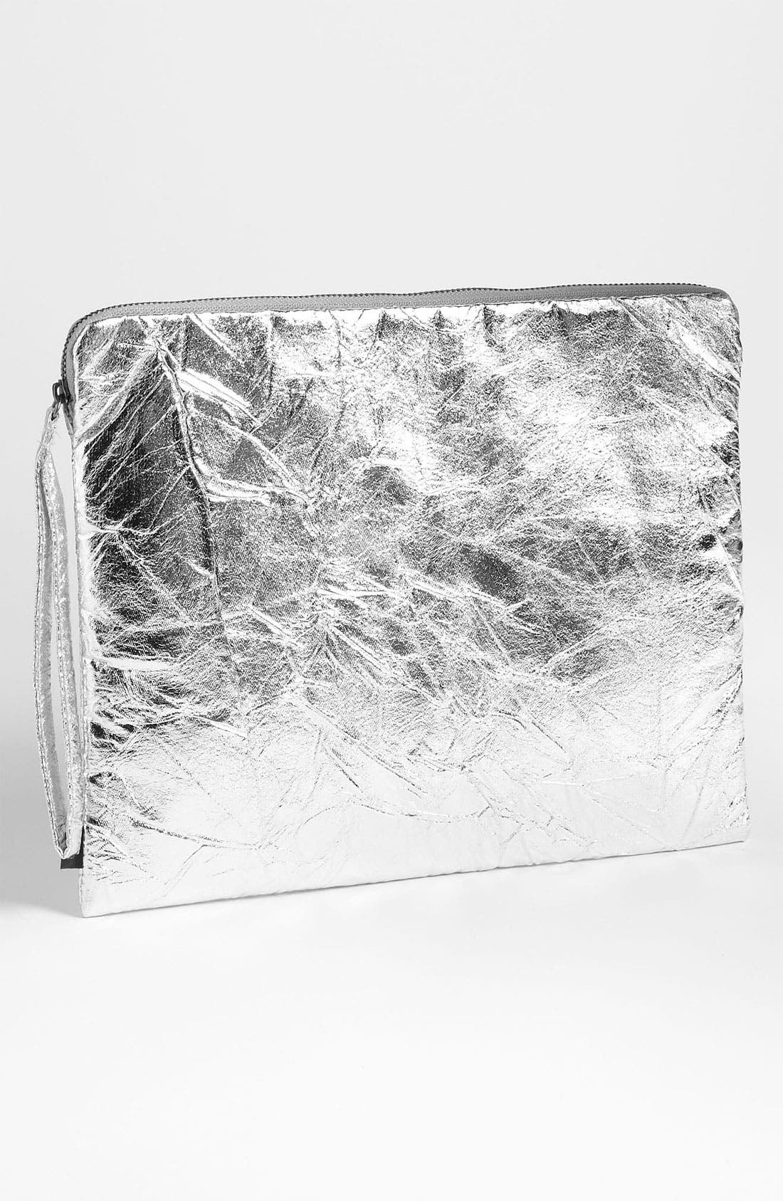 Alternate Image 1 Selected - Echo Crinkled Metallic Tech Case