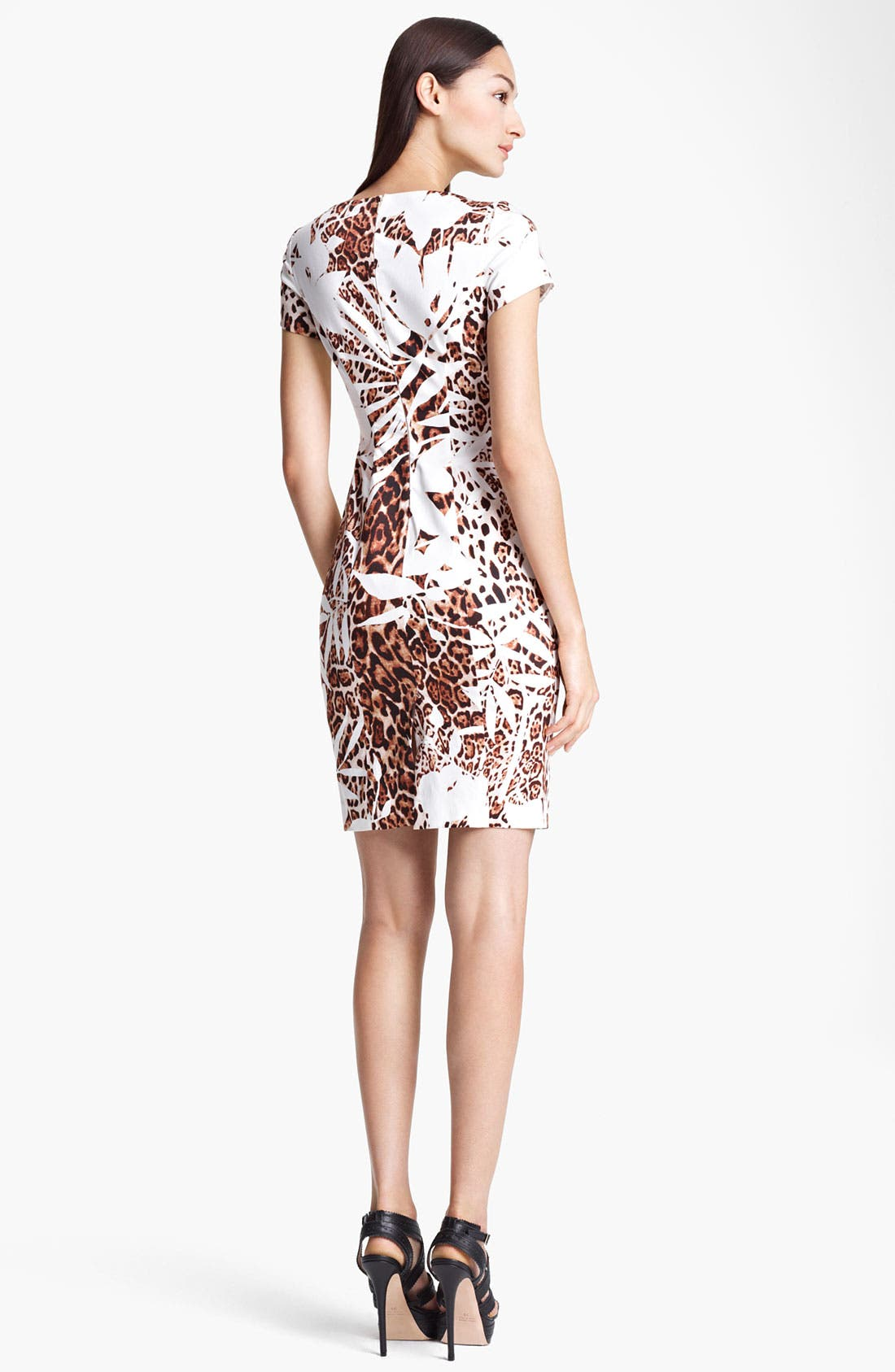 Alternate Image 2  - Blumarine Animal Print Stretch Cotton Dress