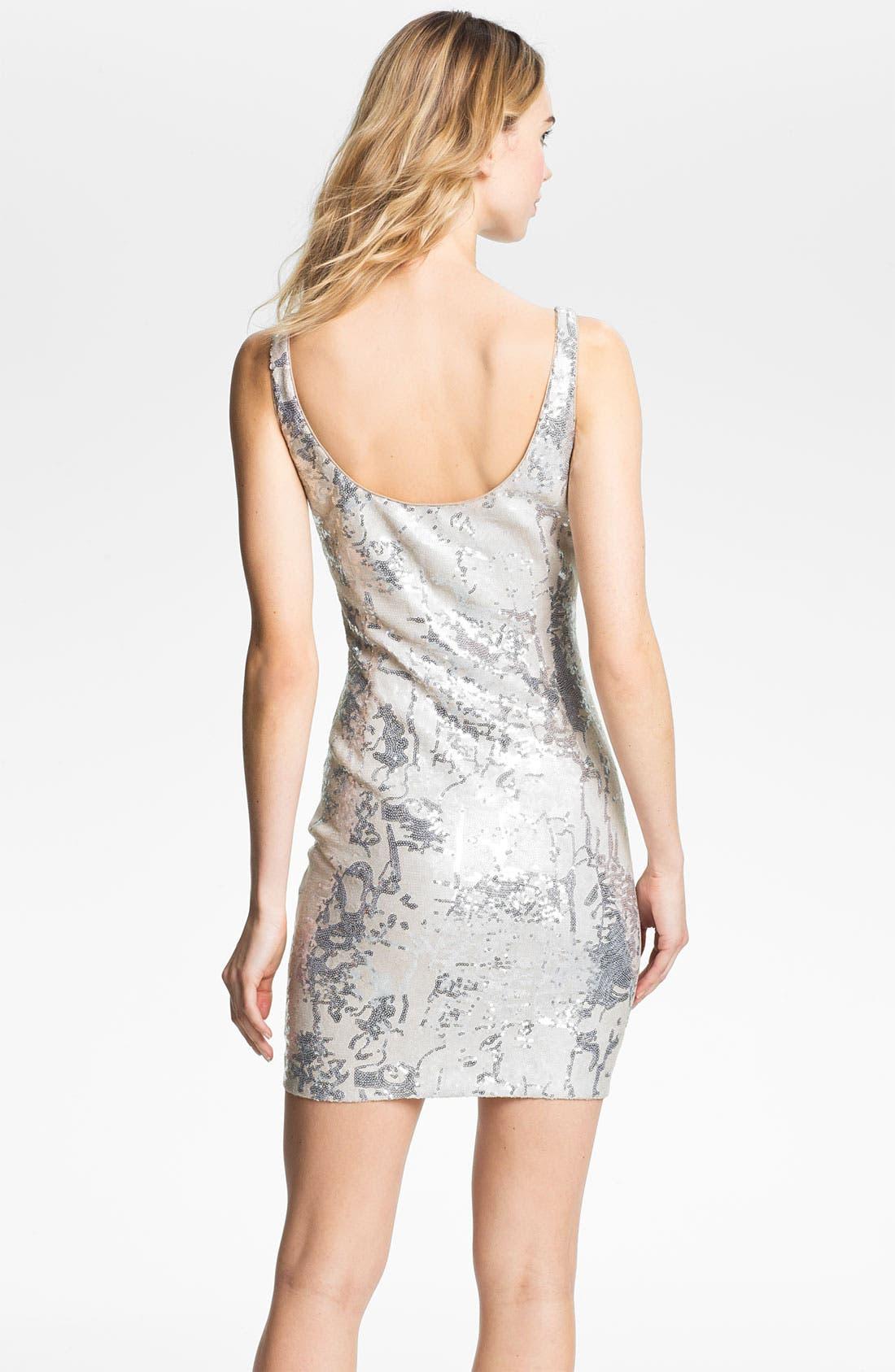 Alternate Image 2  - Aidan Mattox Sequin Pattern Tank Dress