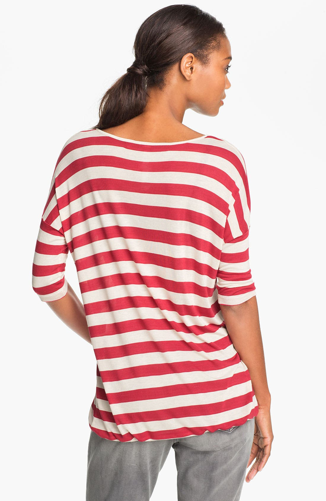 Alternate Image 2  - Kensie Drawstring Hem Stripe Top