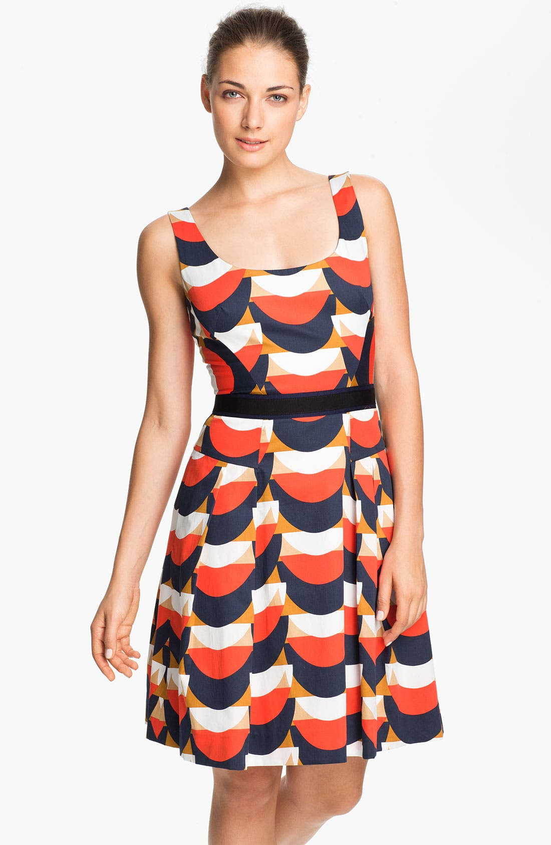 Alternate Image 1 Selected - Milly 'Isabelle' Cotton Fit & Flare Dress