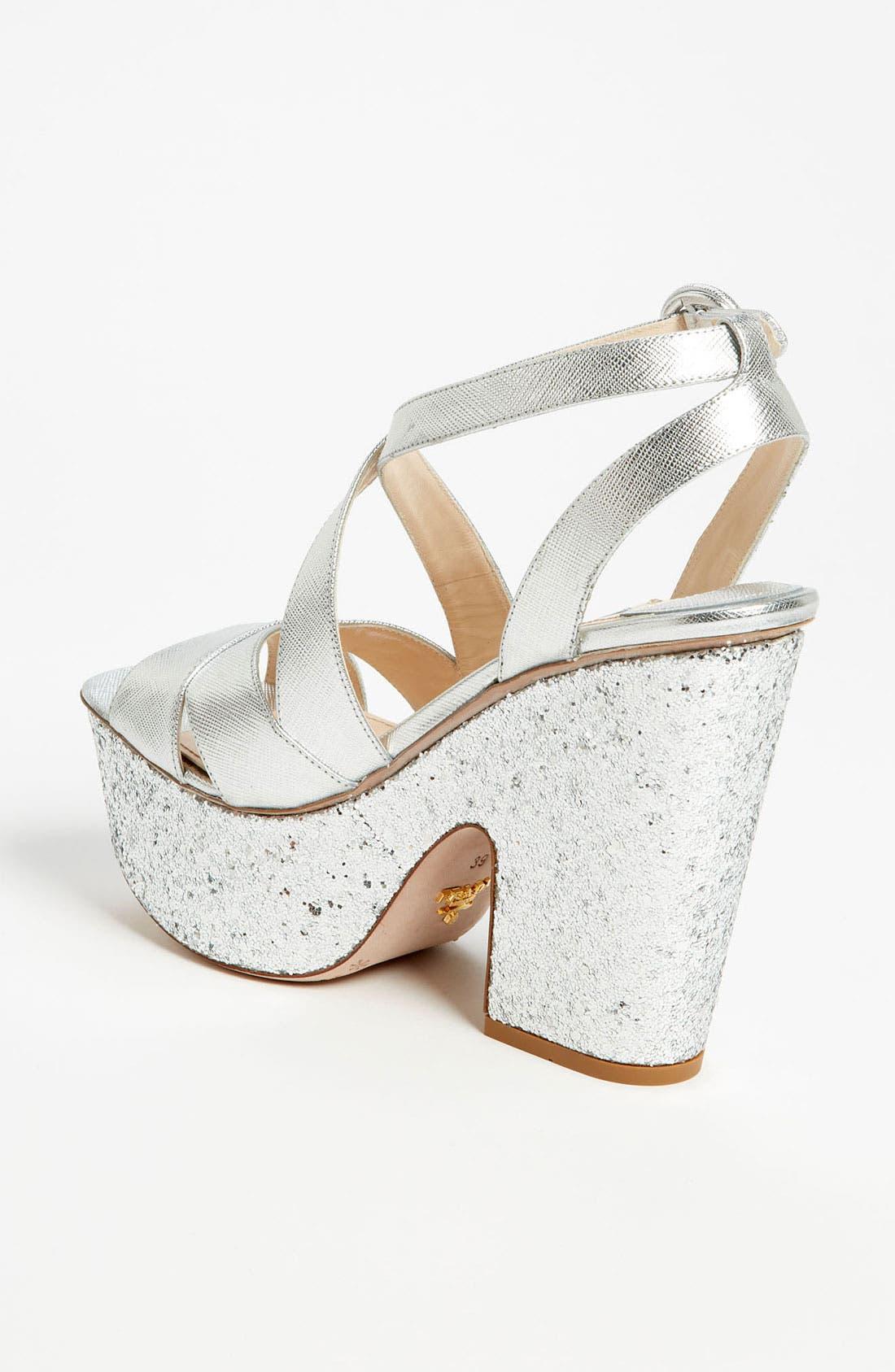 Alternate Image 2  - Prada Glitter Platform Sandal