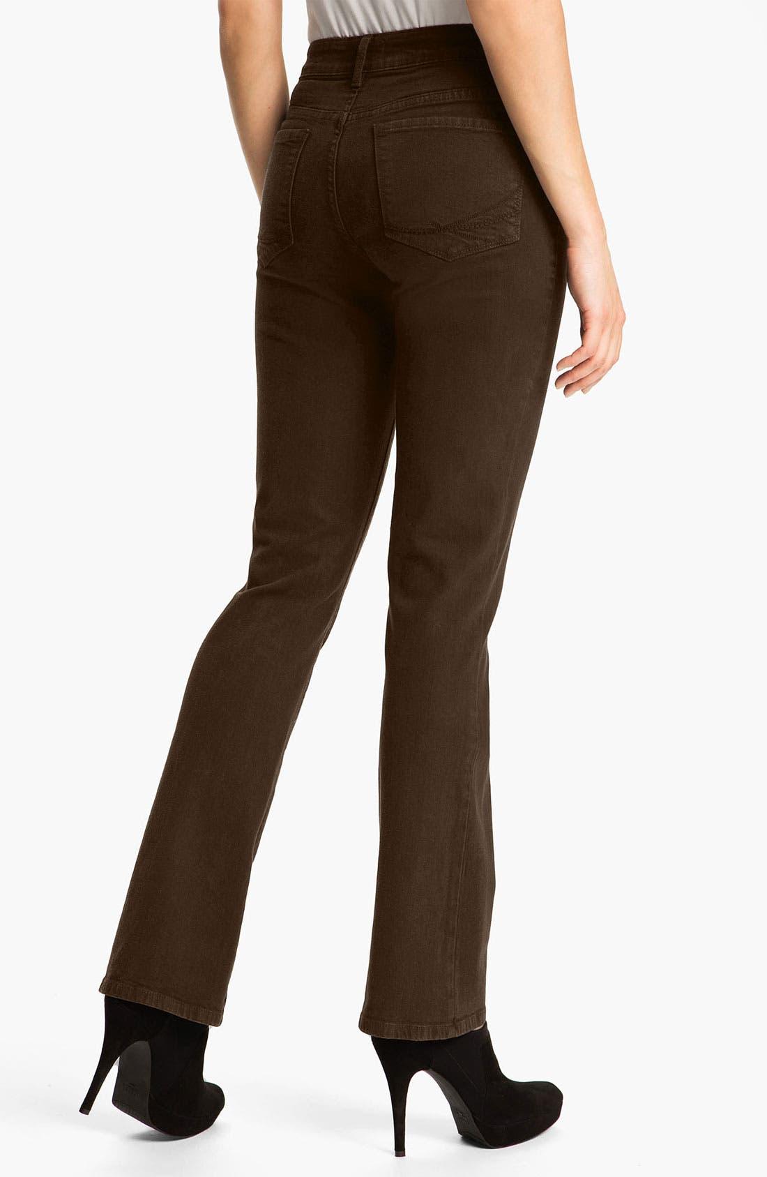 Alternate Image 2  - NYDJ 'Barbara' Colored Denim Bootcut Jeans (Petite)