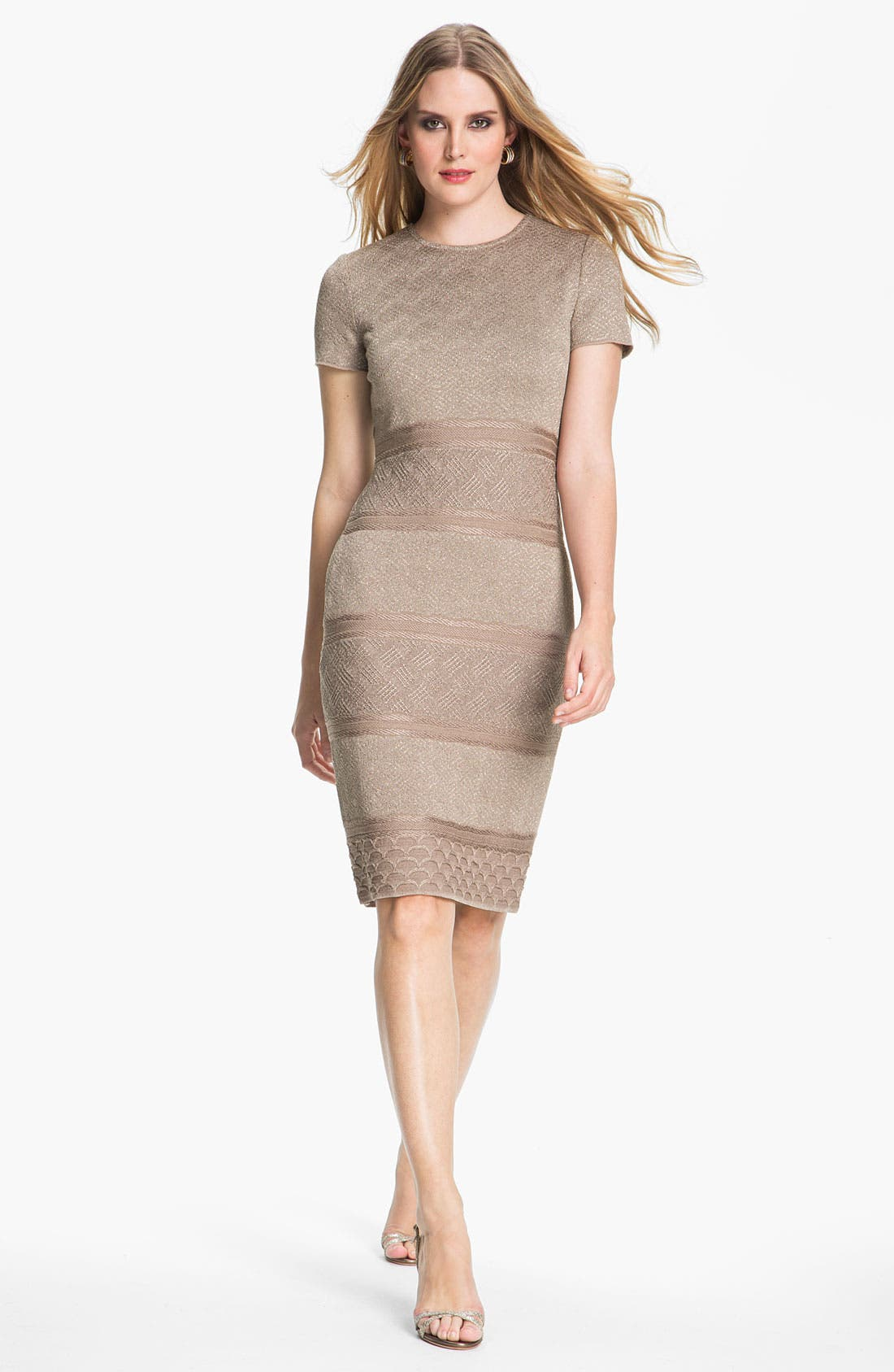 Alternate Image 1 Selected - St. John Collection Textural Stripe Dress